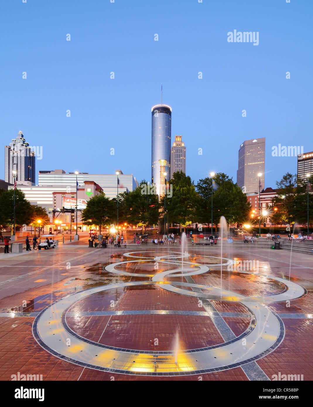 Centennial Olympic Park in Atlanta, Georgia, USA. - Stock Image