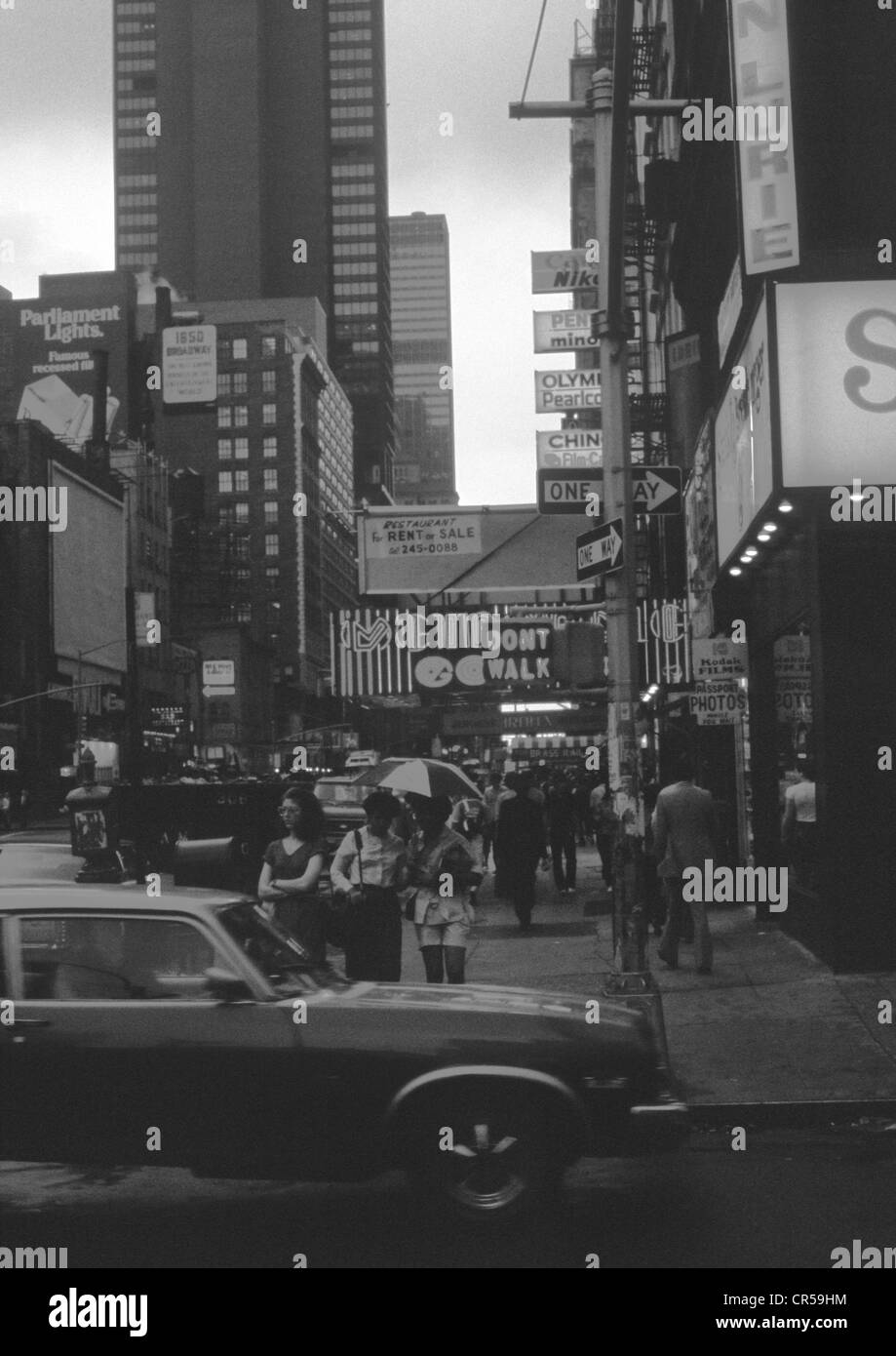 Street photo, Downtown New York, archival photo, August 1981. - Stock Image