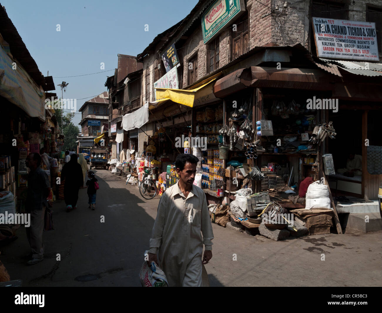 Streetscene in Srinagar, Jammu and Kashmir, India, Asia - Stock Image