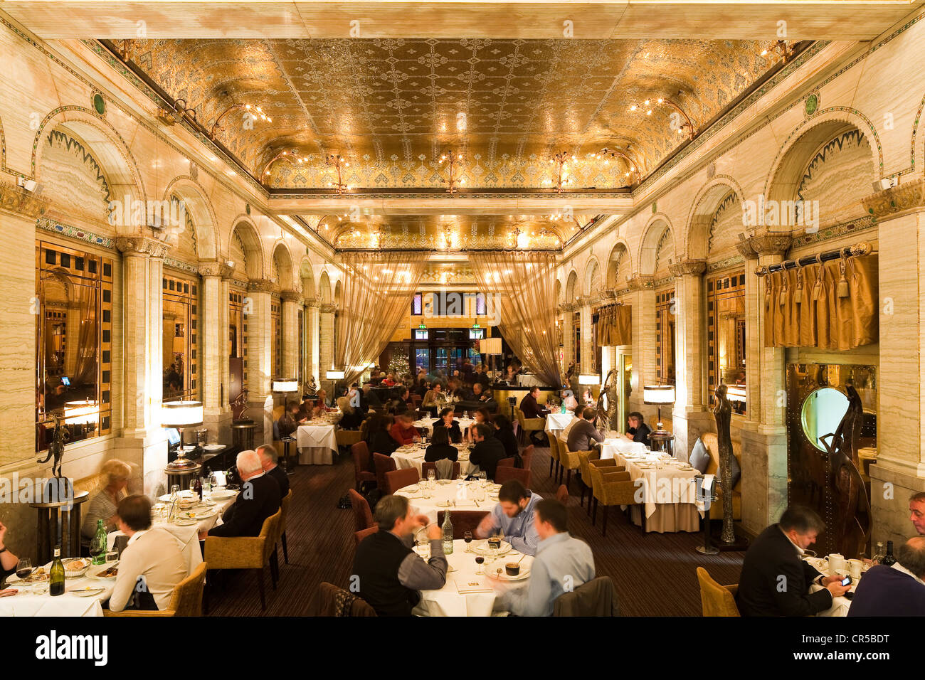United Kingdom, London, Piccadilly, Criterion restaurant with its neo-byzantine style where Conan Doyle used to - Stock Image