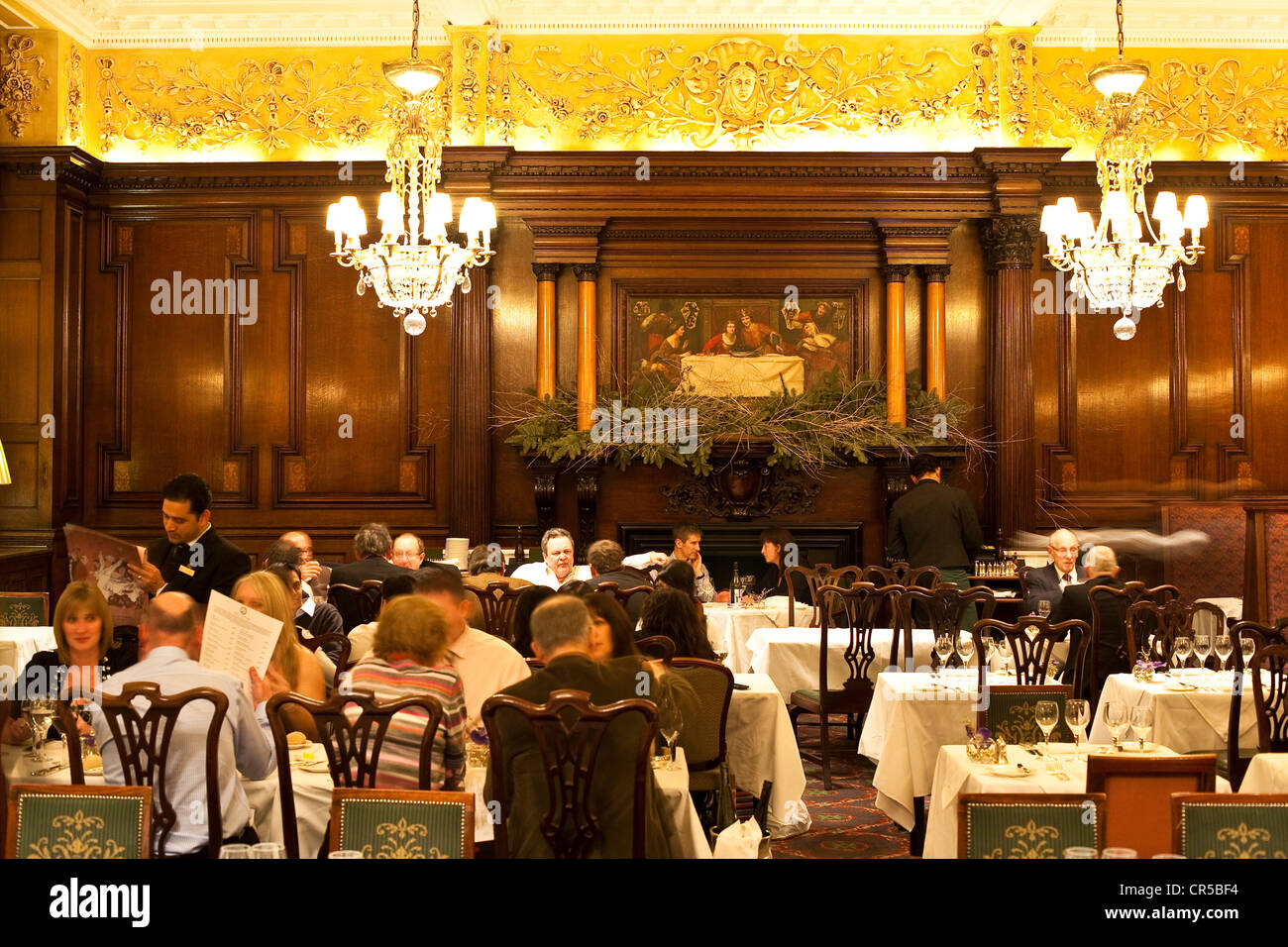 United Kingdom, London, Soho, Simpson's in the Strand restaurant which exists since 1828 and where Vincent Van - Stock Image