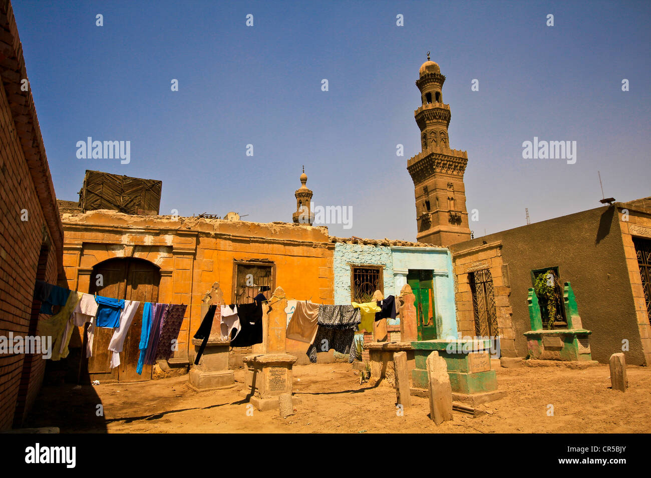 City of the Dead, and mosque of Muhammad Ali of Egypt at citadel Cairo Stock Photo