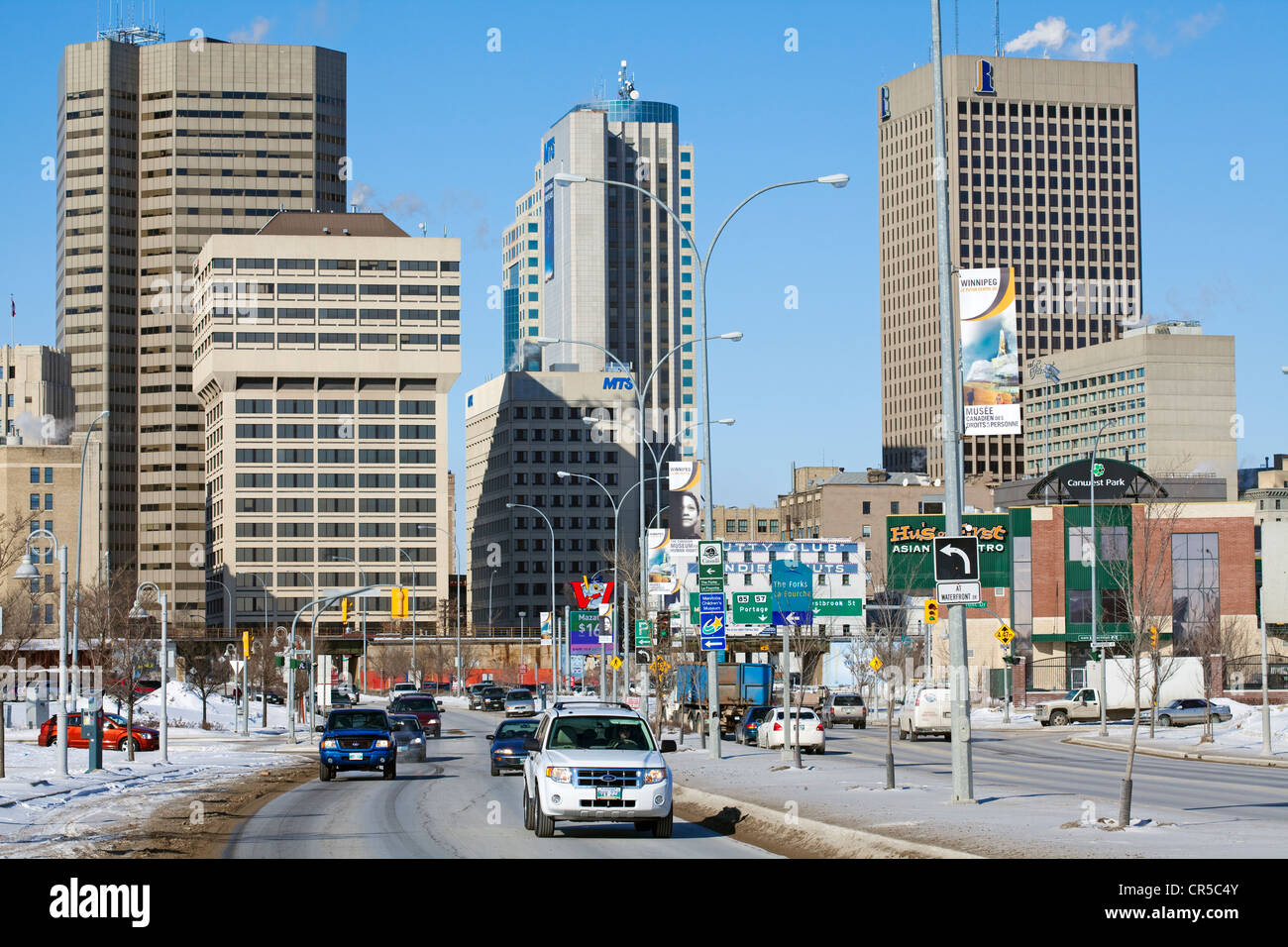 Canada, Manitoba Province, Winnipeg, downtown and buildings