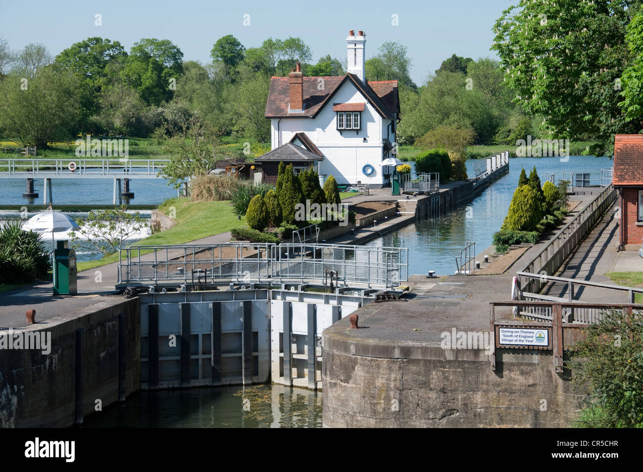 Goring Lock on The River Thames -1 Stock Photo
