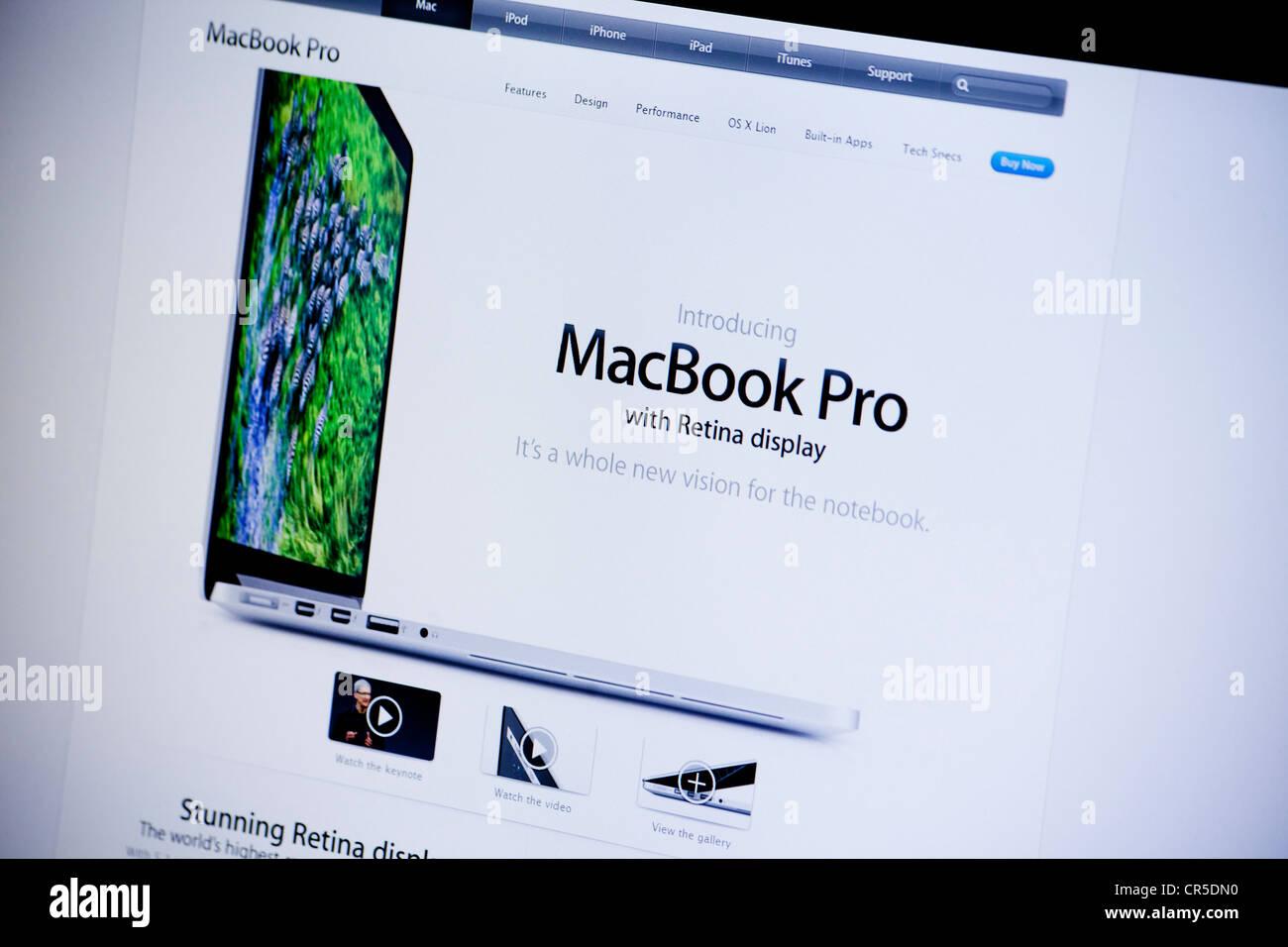 Apple website screenshot with macbook pro retina display apple website screenshot with macbook pro retina display presentation page ccuart Choice Image