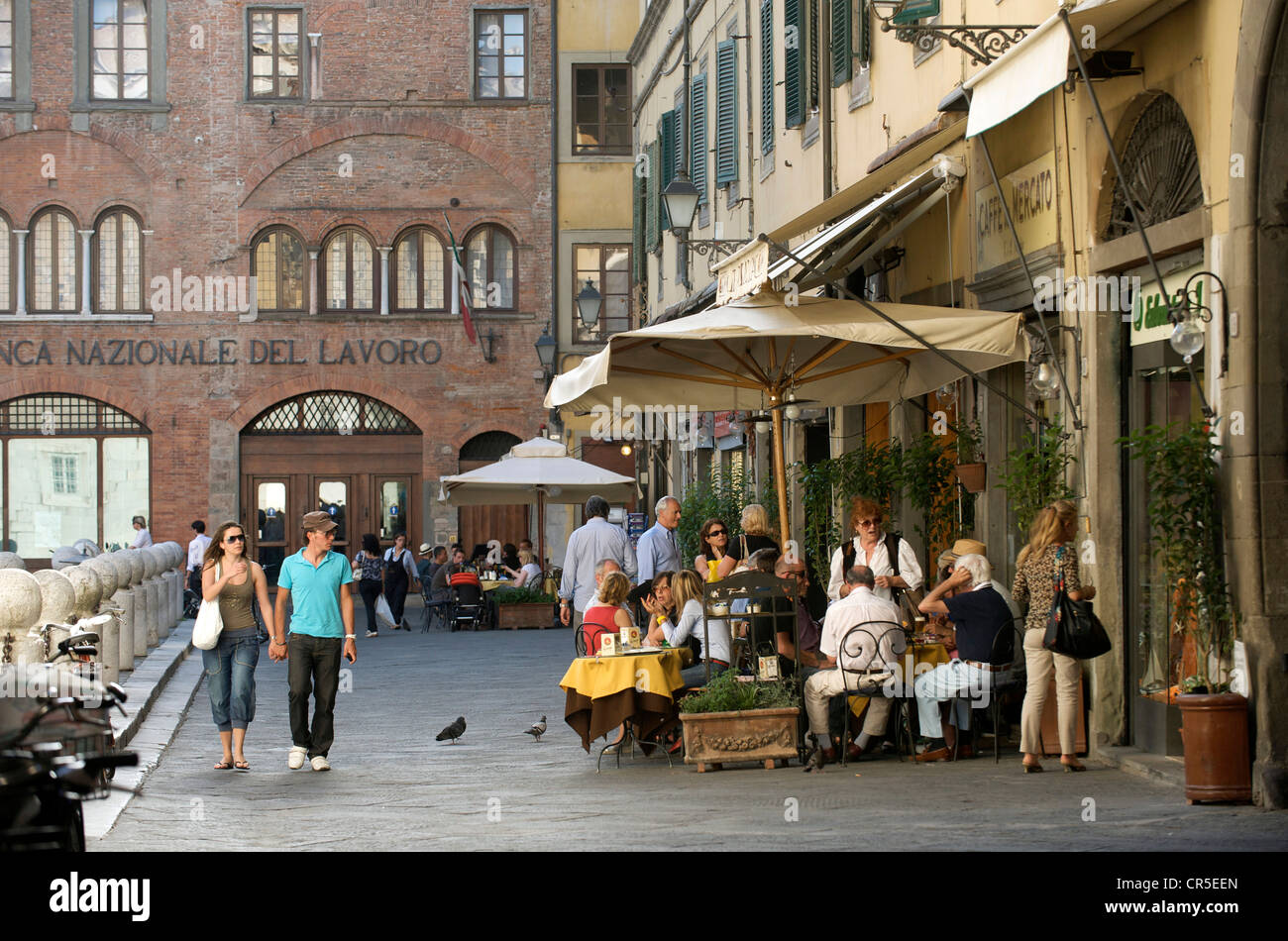 Italy, Tuscany, Lucca, Piazza San Michele - Stock Image