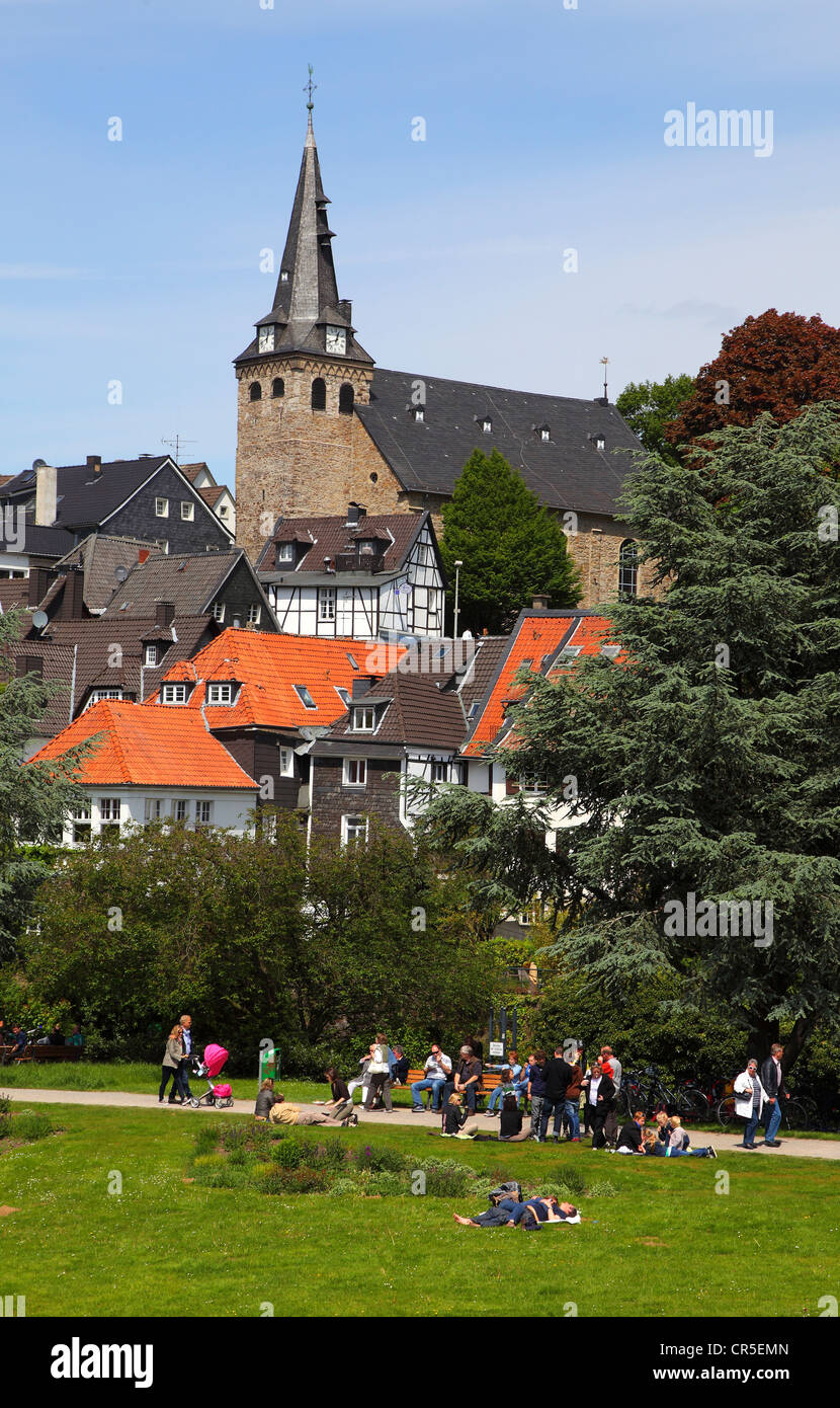 Old town of Kettwig a southern part of the city Essen, at river Ruhr in Germany, Europe. - Stock Image