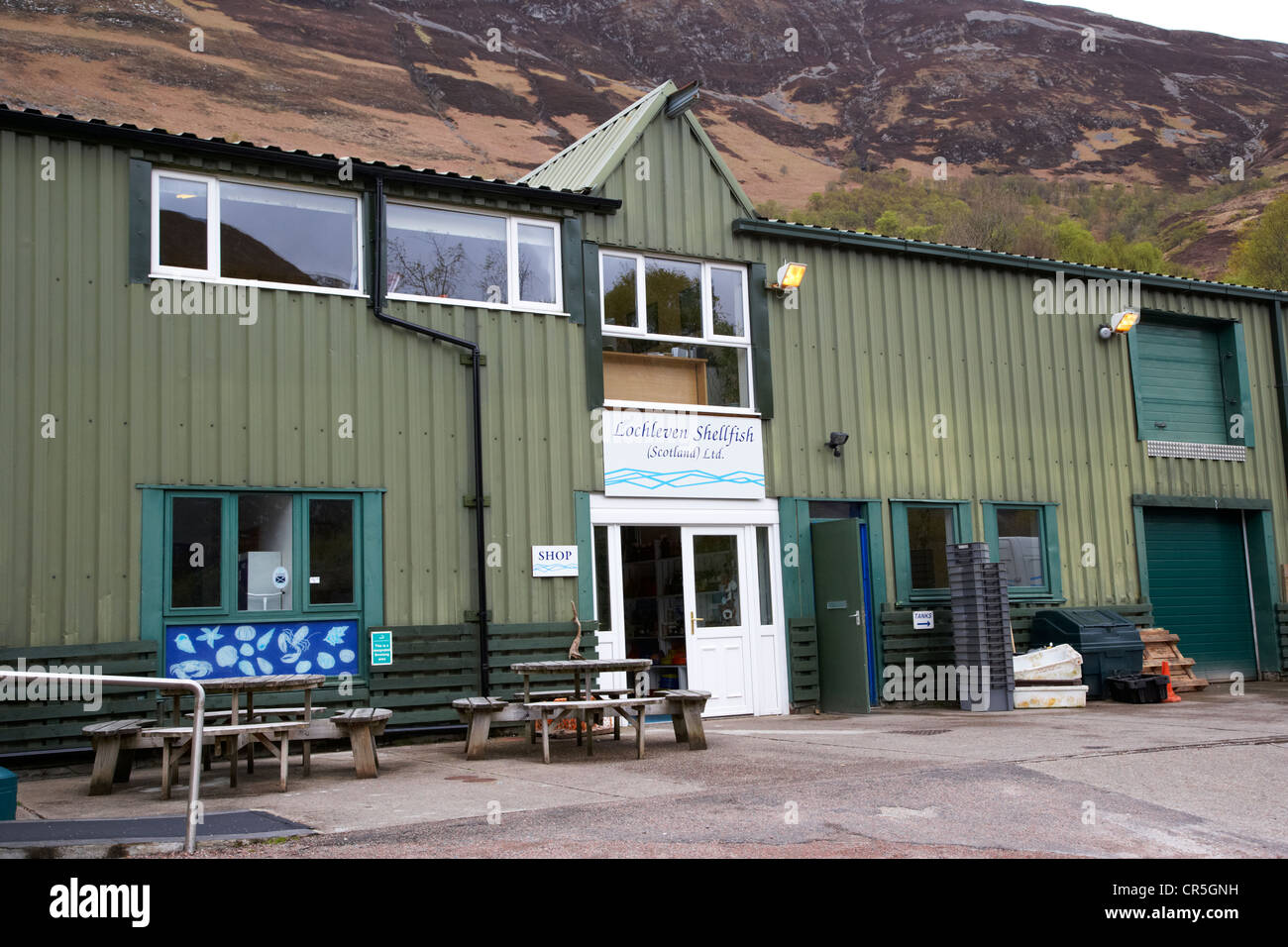 lochleven shellfish headquarters loch leven scotland uk - Stock Image