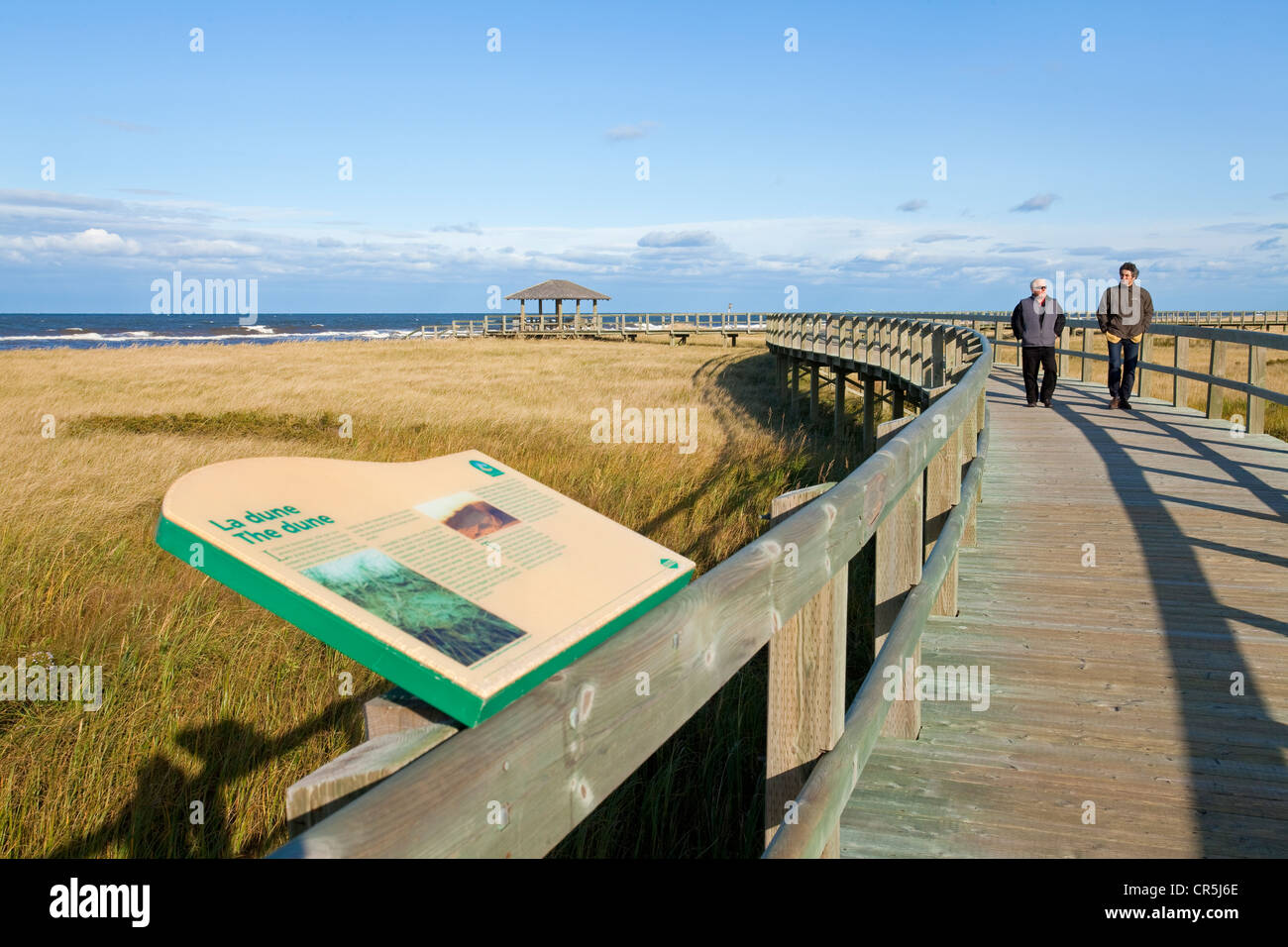 Canada, New Brunswick, Acadia, Bouctouche Dune, Irving Drop-off center - Stock Image