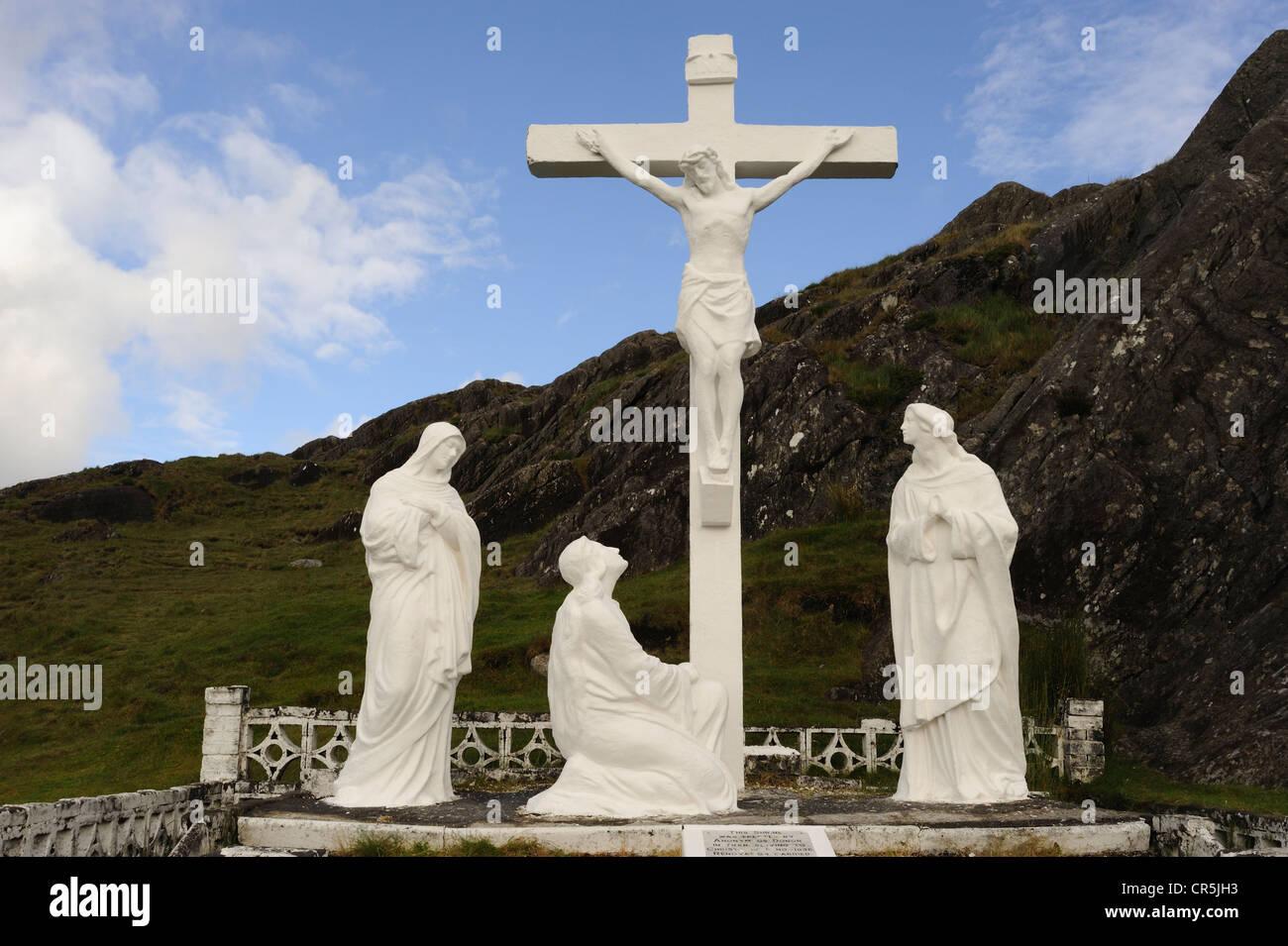 Crucifix, Healy Pass, West Cork, Ireland Stock Photo