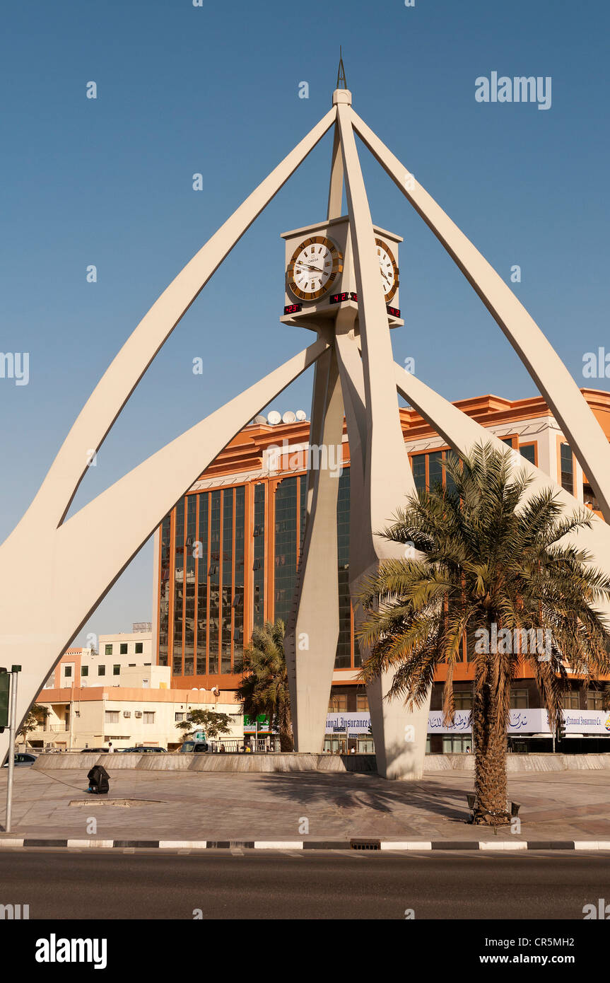 Elk206-2080v United Arab Emirates, Dubai, Deira clock tower - Stock Image