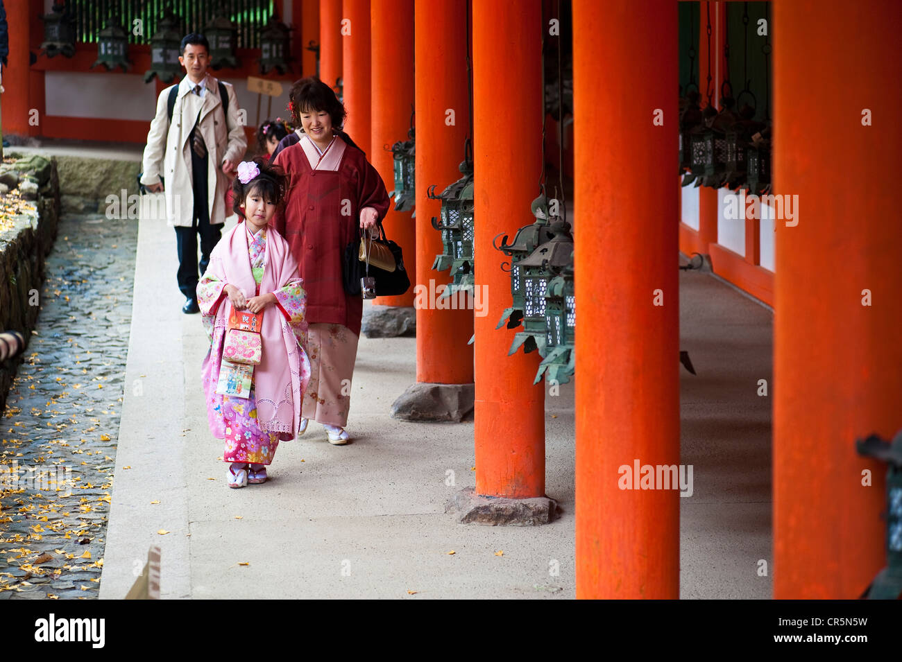 Japan Honshu Island Kinki Region city of Nara Historic Monuments of Ancient Nara listed as World Heritage by UNESCO - Stock Image