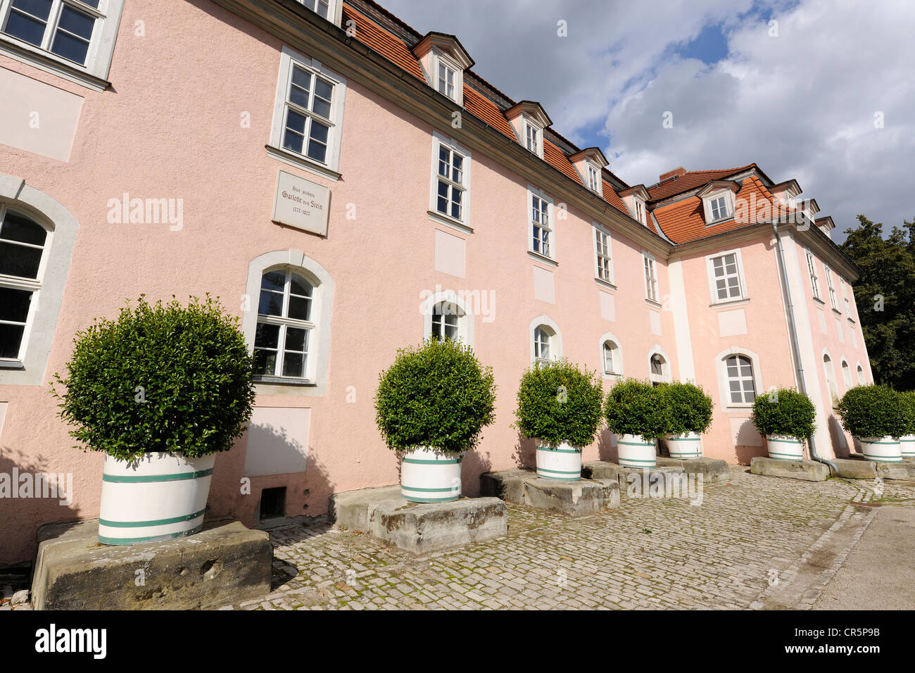 Former residence of Charlotte von Stein in Weimar, Thuringia, Germany, Europe - Stock Image