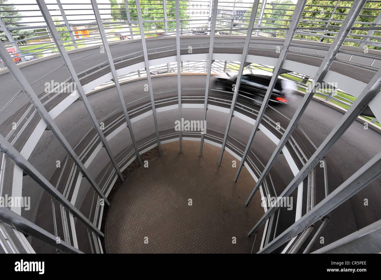 Parkhaus Am Stadion, stadium car park, Steigerwald Stadium, Erfurt, Thuringia, Germany, Europe - Stock Image