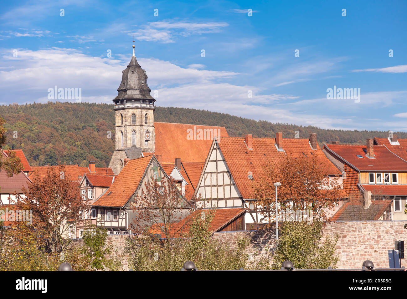St. Blasius Church, historic town centre, Hannoversch Muenden, Lower Saxony, Germany, Europe - Stock Image