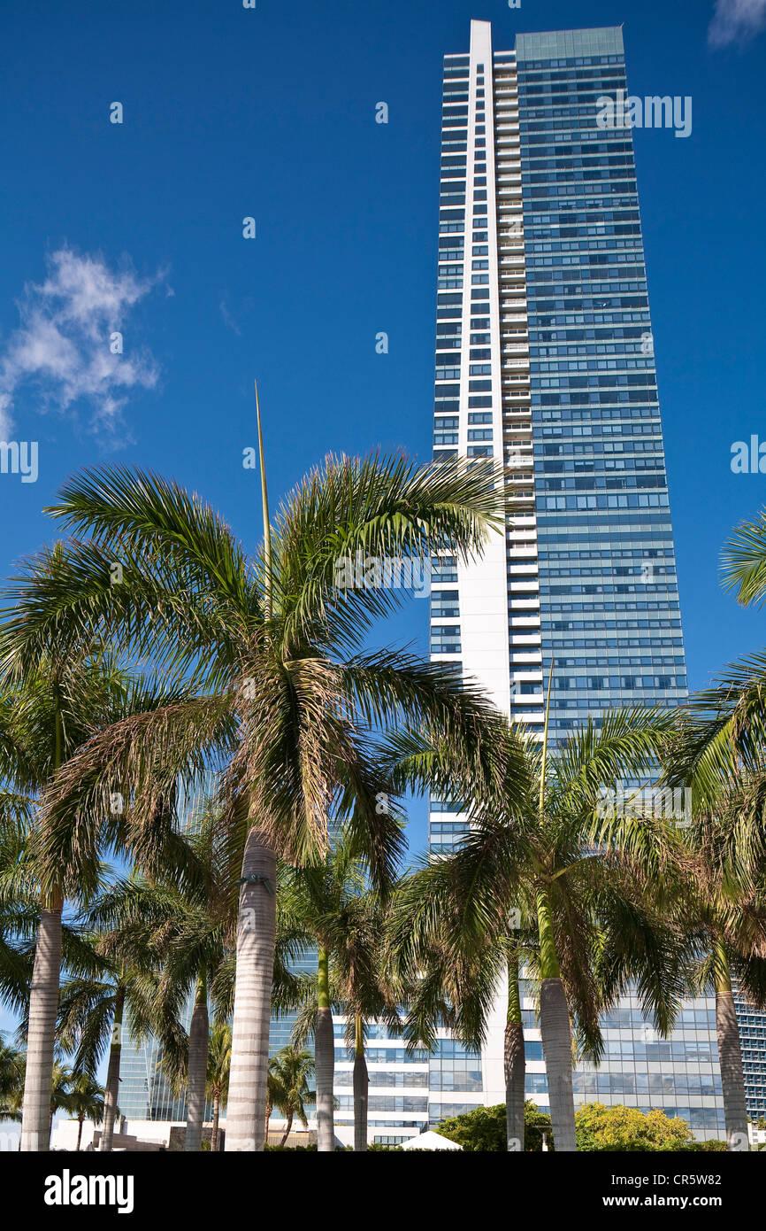 United States, Florida, Miami, Downtown, hotel Four Seasons view