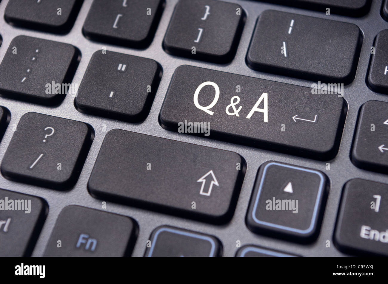 Q&A on enter key of keyboard, for conceptual usage. - Stock Image
