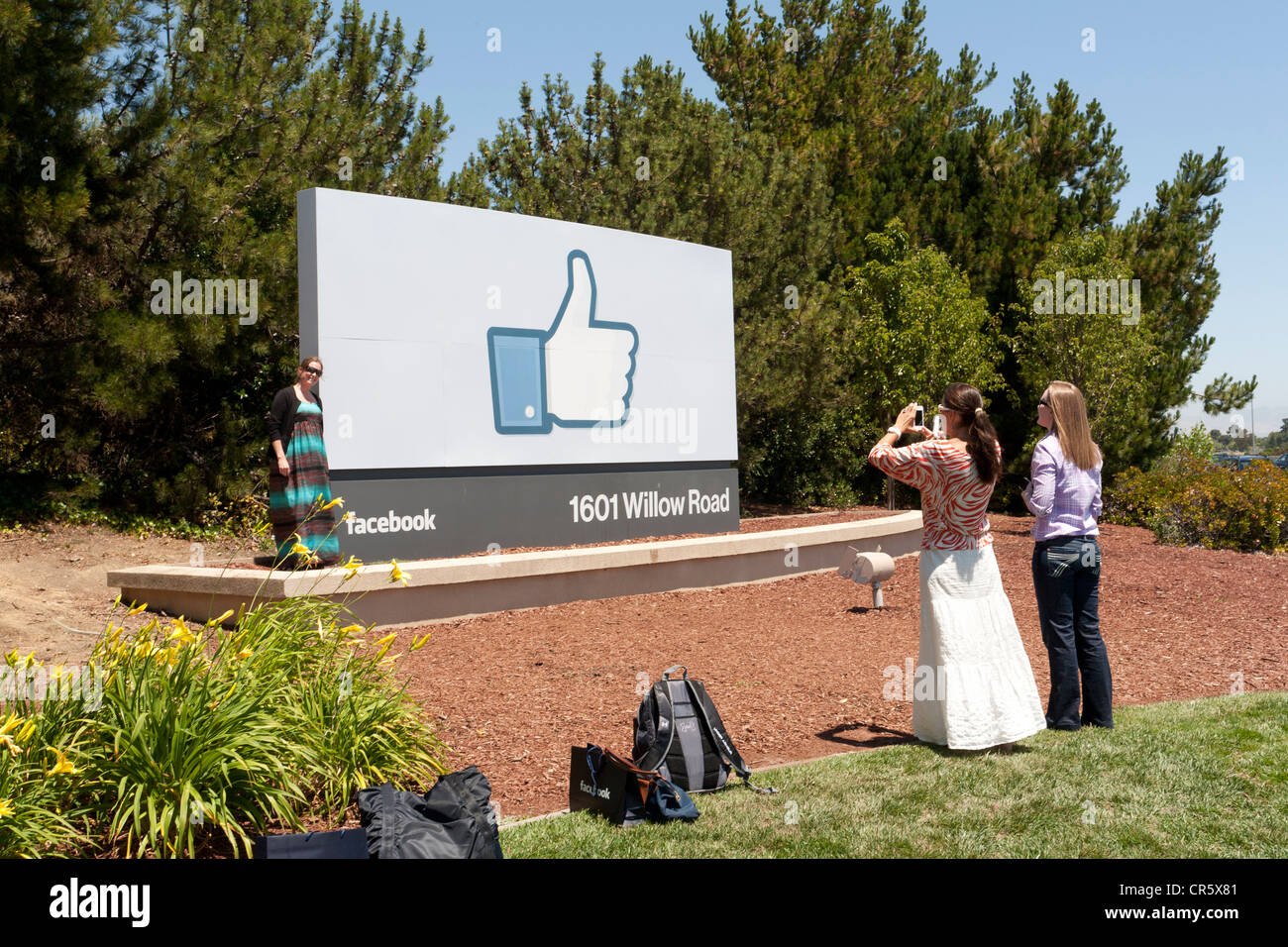 Facebook Headquarters Thumbs Up Sign in Menlo Park, Silicon Valley