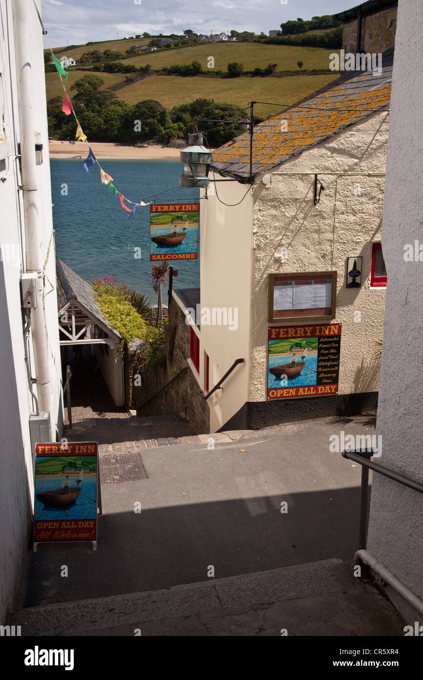 The Ferry Boat inn .Salcombe, Devon, England, United Kingdom. - Stock Image
