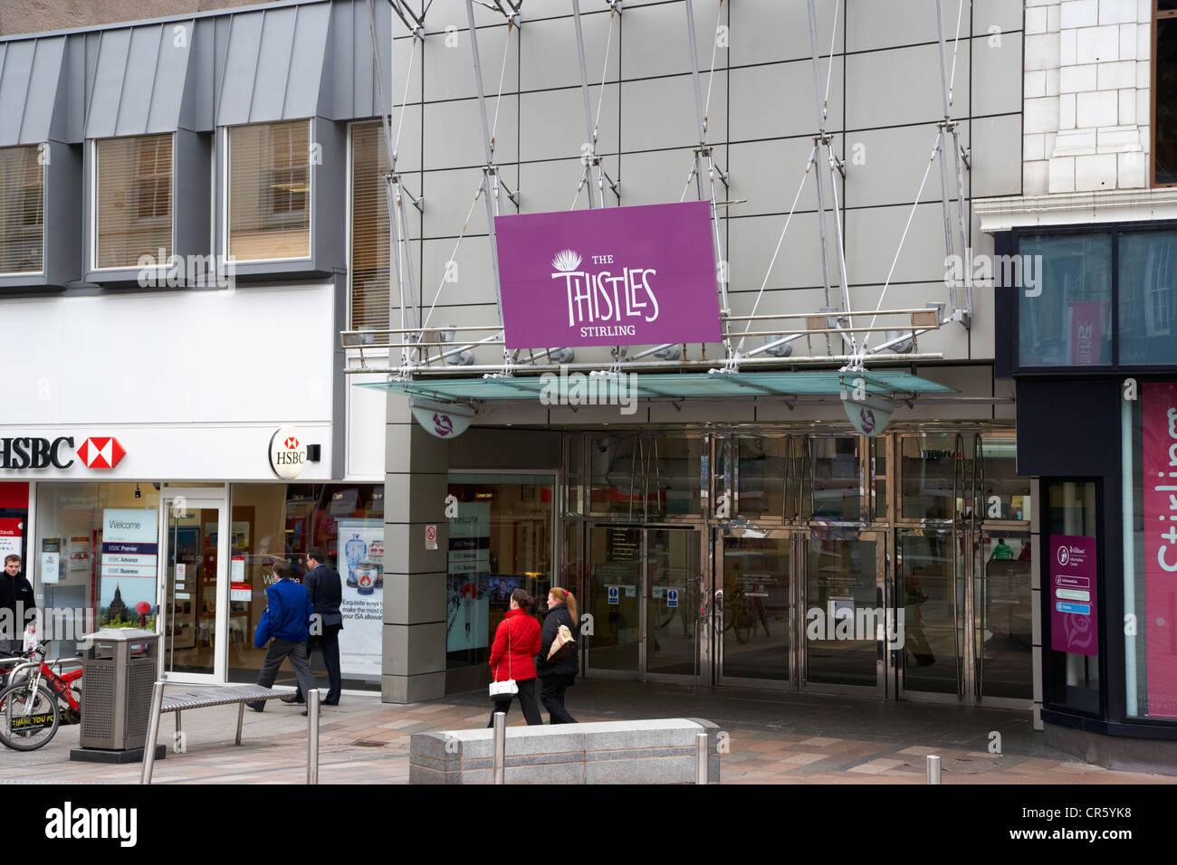 the thistles shopping centre stirling scotland uk - Stock Image