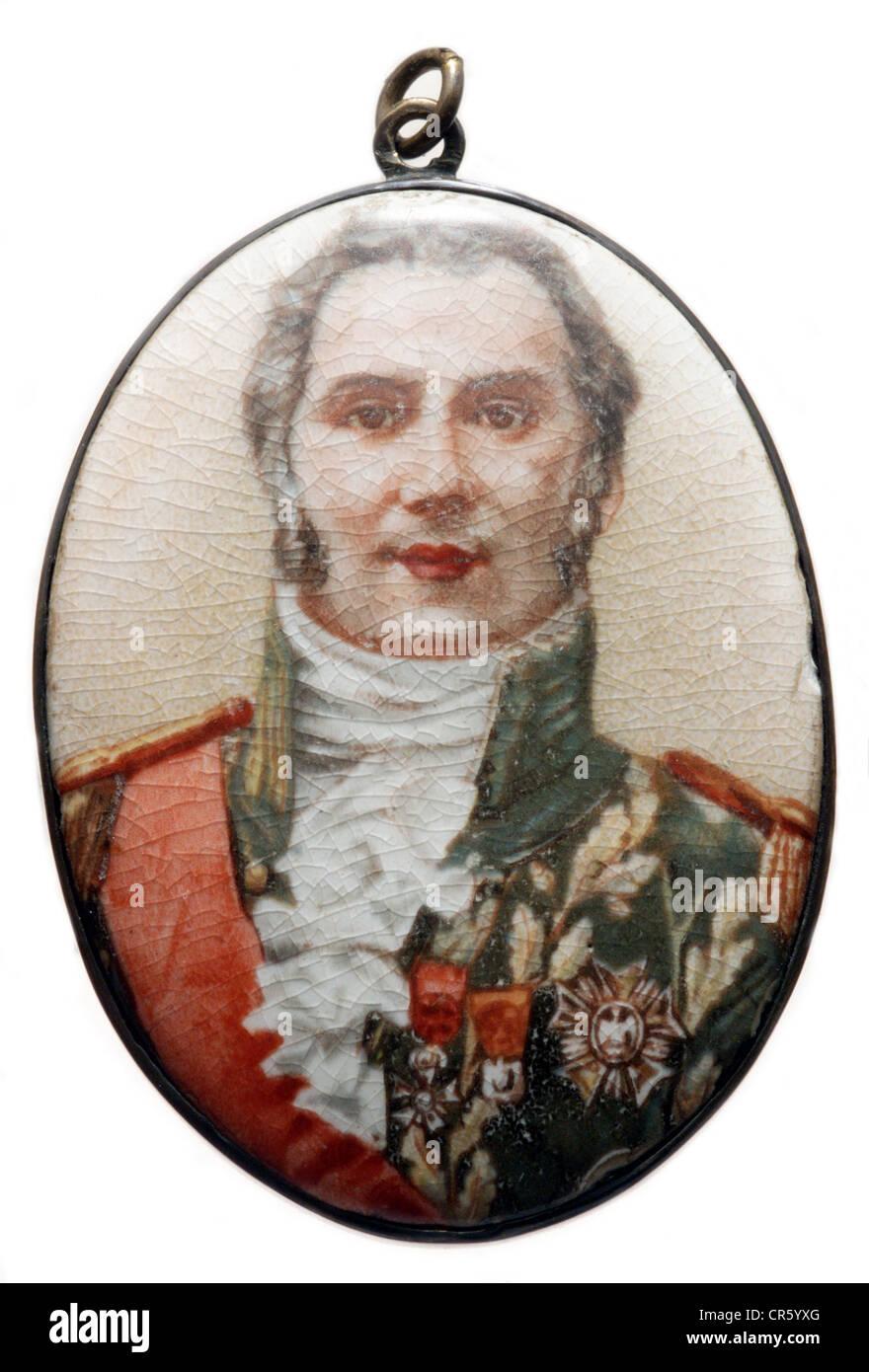 Wellington, Arthur Wellesley Duke of, 1.5.1769 - 14.9.1852, British General, politician, portrait, miniature painting - Stock Image