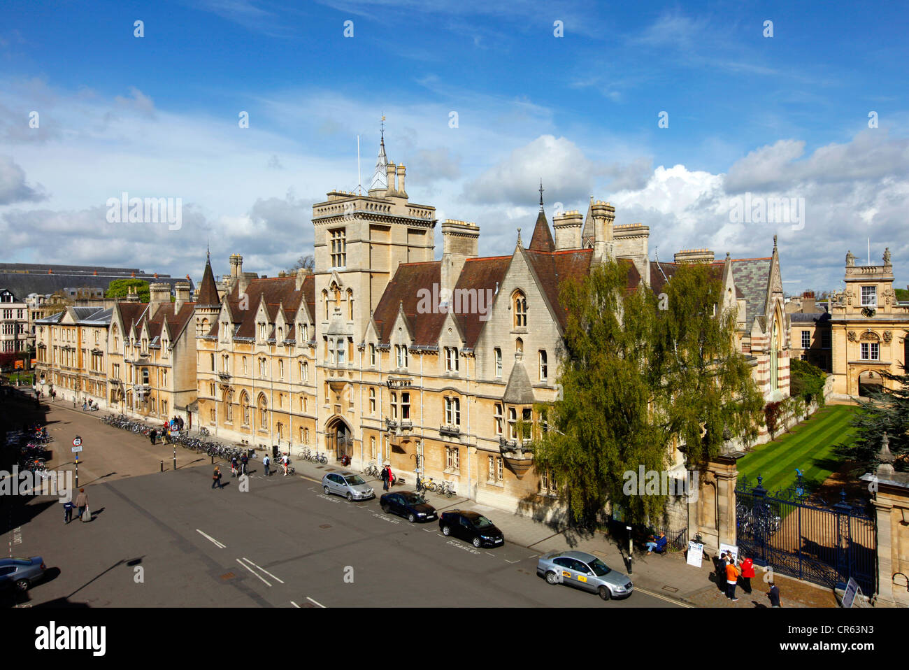Balliol College, Broad Street. One of 39 colleges, all of which are independently and together form the University - Stock Image
