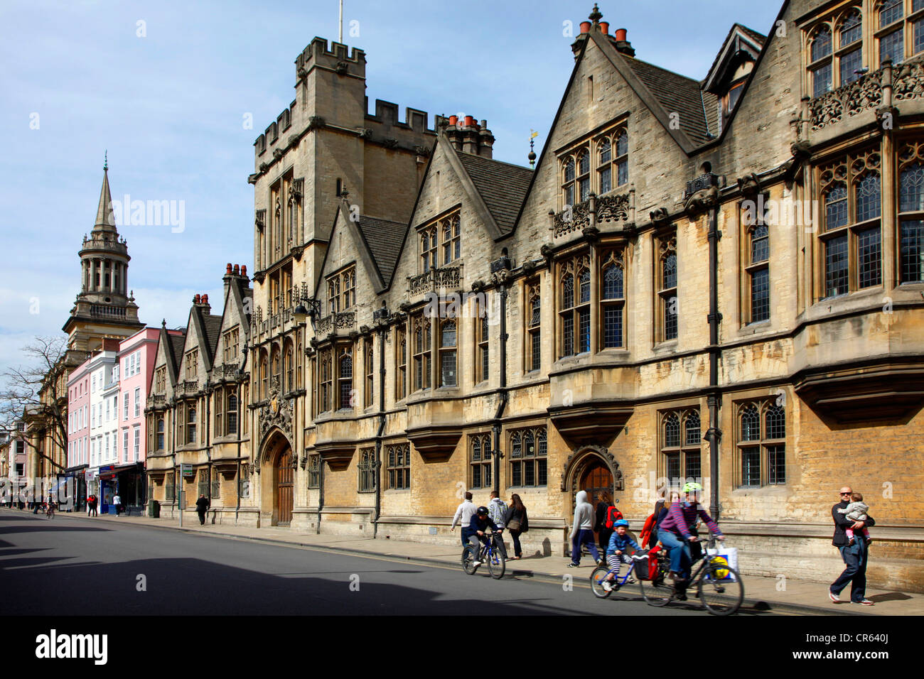 Downtown, High Street, Brasenose College. Oxford, Oxfordshire, UK, Europe - Stock Image
