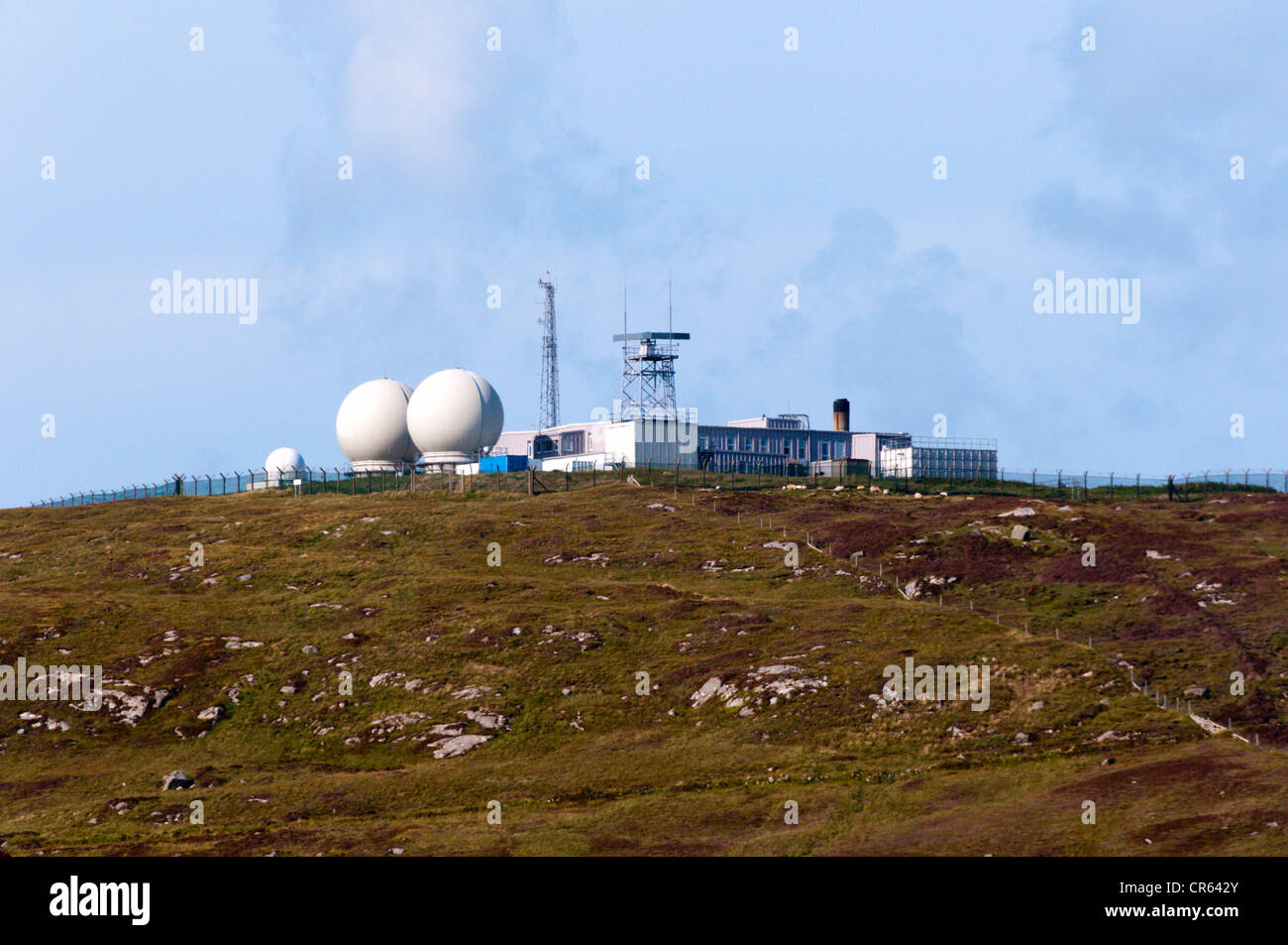 The Range Control Unit for the South Uist Missile Range run by QinetiQ. - Stock Image