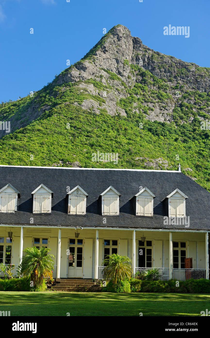 Mauritius, Moka District, Moka, Eureka Creole House built in 1812, facing the Ory Mountain, the 109 Doors House - Stock Image