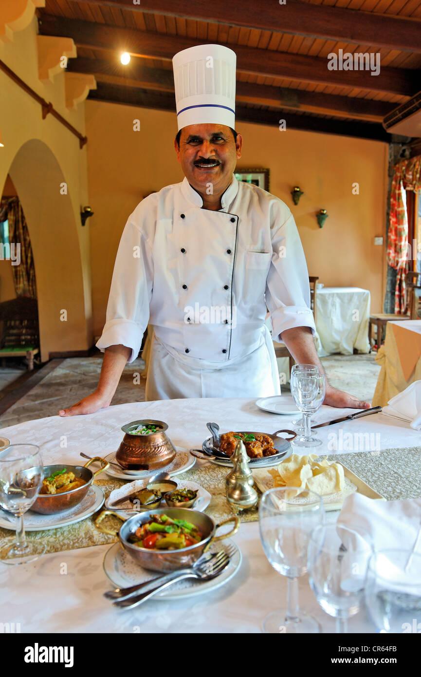 Mauritius, Moka District, Pailles, Domaine des Pailles, restaurant, the Chef - Stock Image