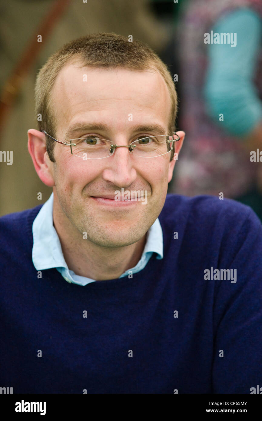 Robert Macfarlane, British travel writer pictured at The Telegraph Hay Festival 2012, Hay-on-Wye, Powys, Wales, - Stock Image