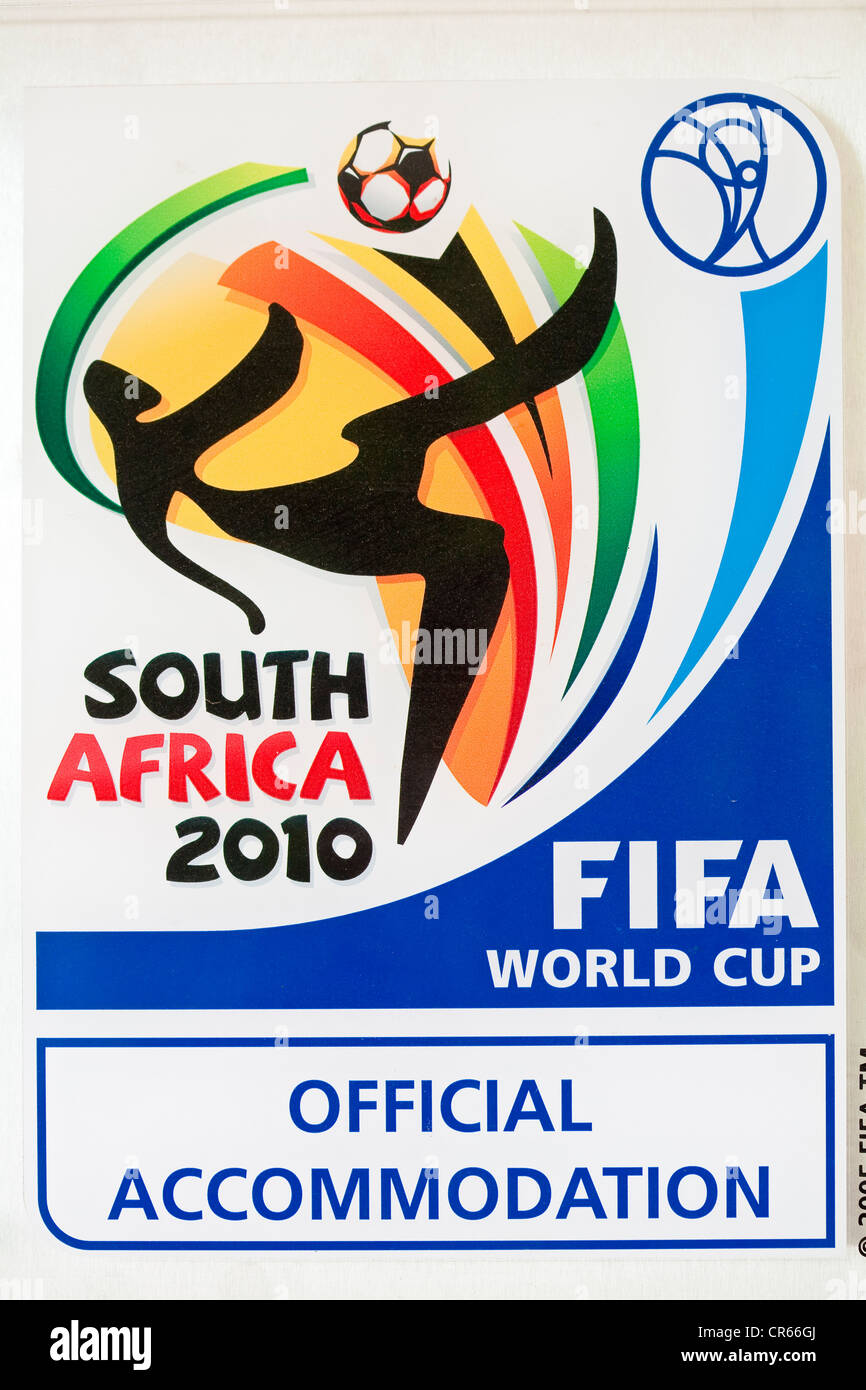 South Africa, Gauteng Province, Johannesburg, FIFA logo for the official hotels of the 2010 Football World Cup - Stock Image
