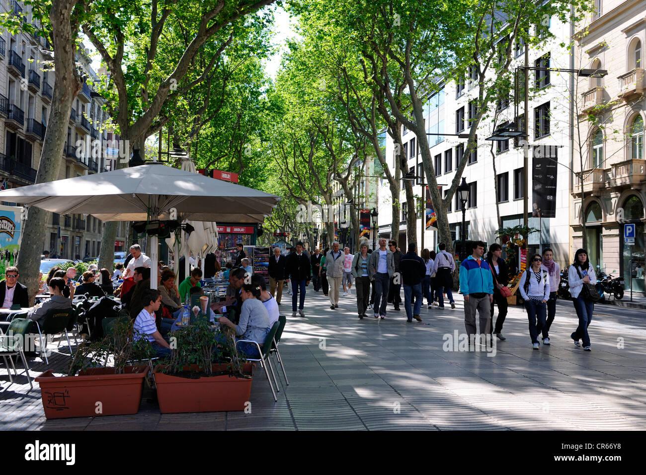 Spain, Catalonia, Barcelona, La Rambla - Stock Image