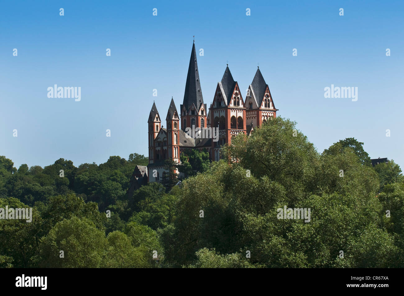Limburg Cathedral, St. George's Cathedral, late Romanesque, Limburg an der Lahn, Limburg, Hesse, Germany, Europe - Stock Image