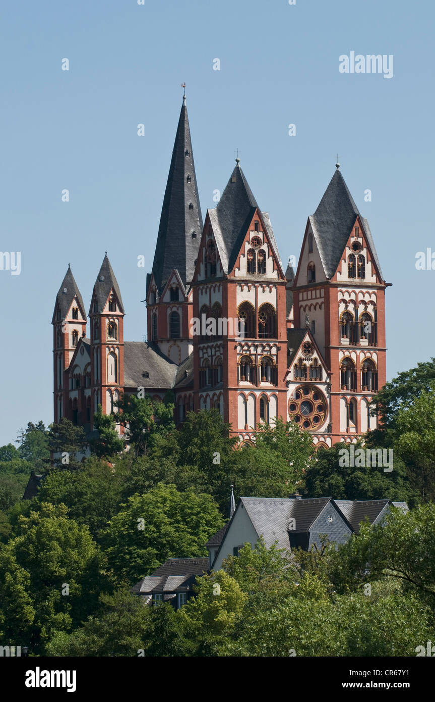 St. George's Cathedral, Limburg Cathedral, late Romanesque, Limburg an der Lahn, Limburg, Hesse, Germany, Europe - Stock Image