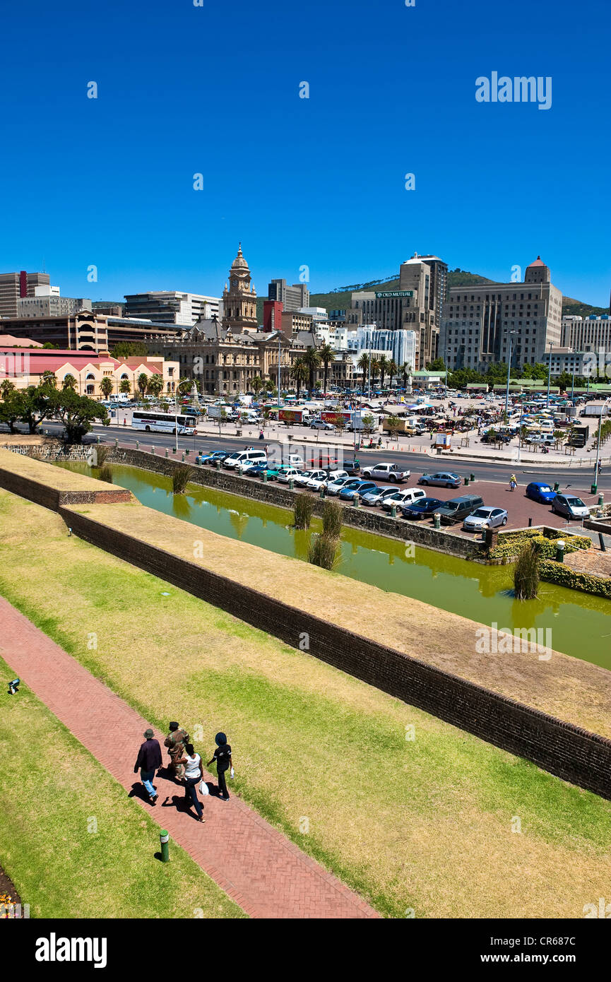 South Africa, Western Cape, Cape Town, moats of Castle of Good Hope - Stock Image
