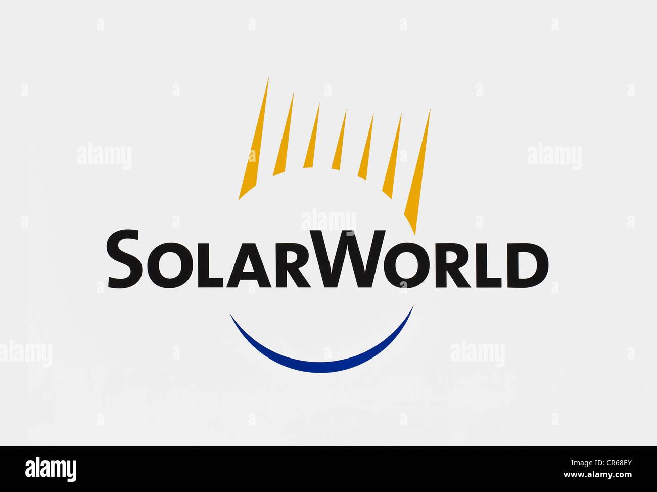 SolarWorld, Logo of SolarWorld AG - Stock Image