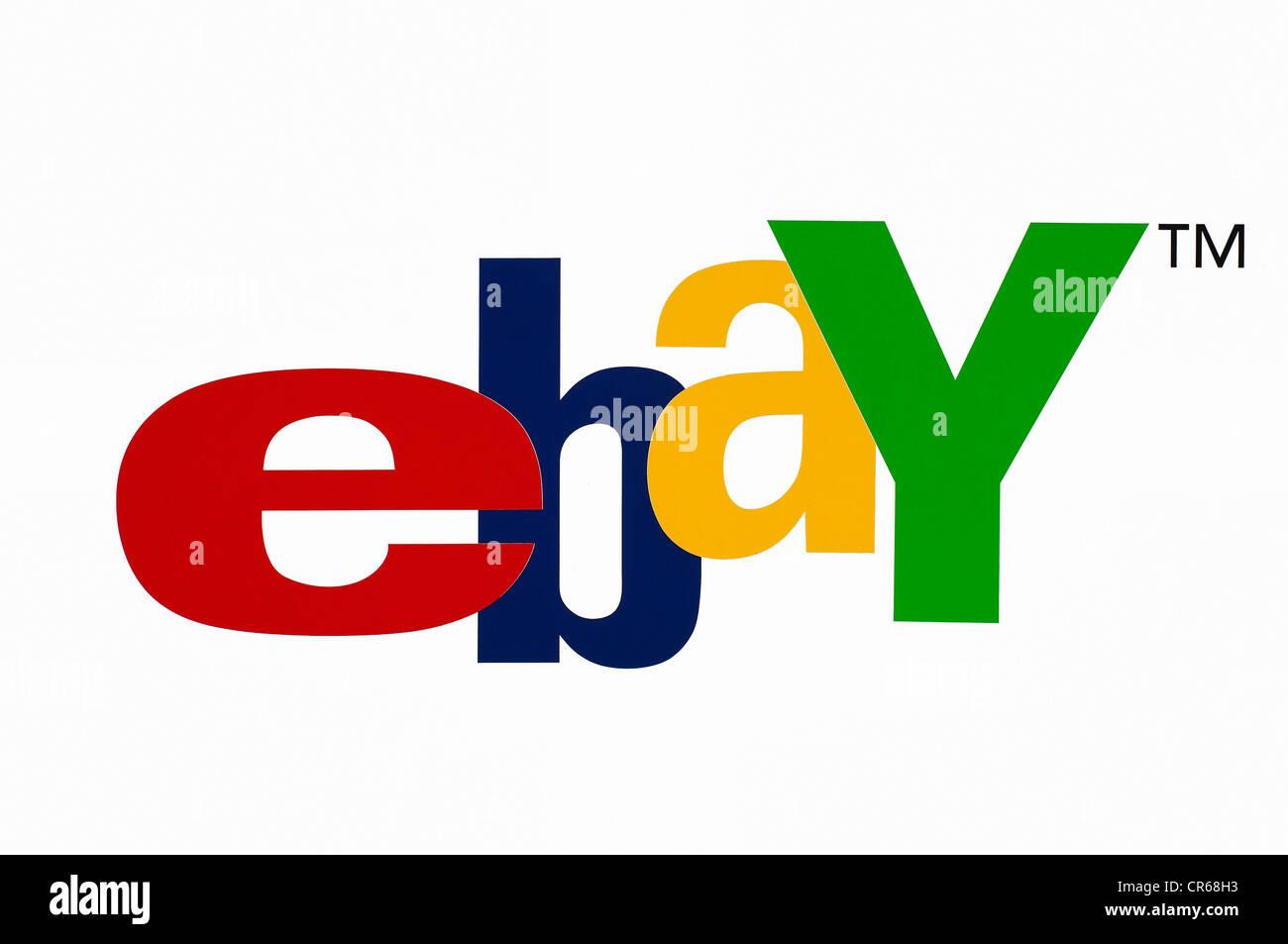Ebay logo, American online auction website - Stock Image