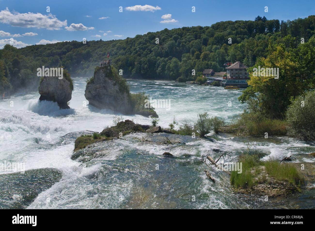 Rhine Falls near Schaffhausen, topview, Switzerland, Europe - Stock Image