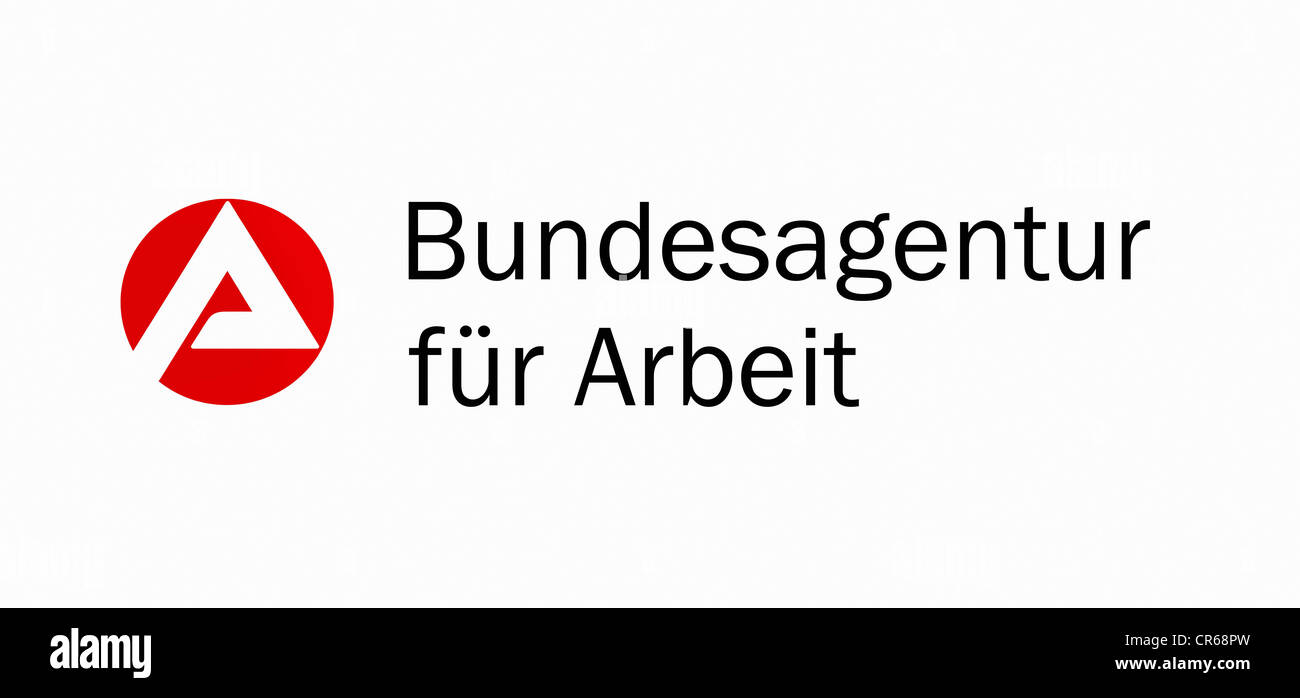 Sign with logo: Bundesagentur fuer Arbeit or Federal Employment Agency - Stock Image