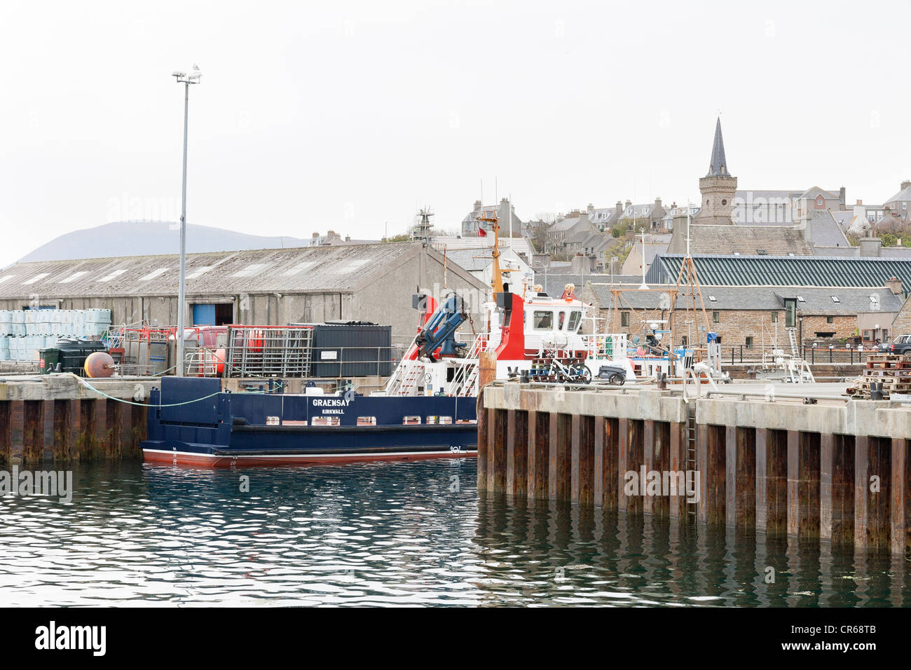 The harbour at Stromness on the Orkney Isles - Stock Image