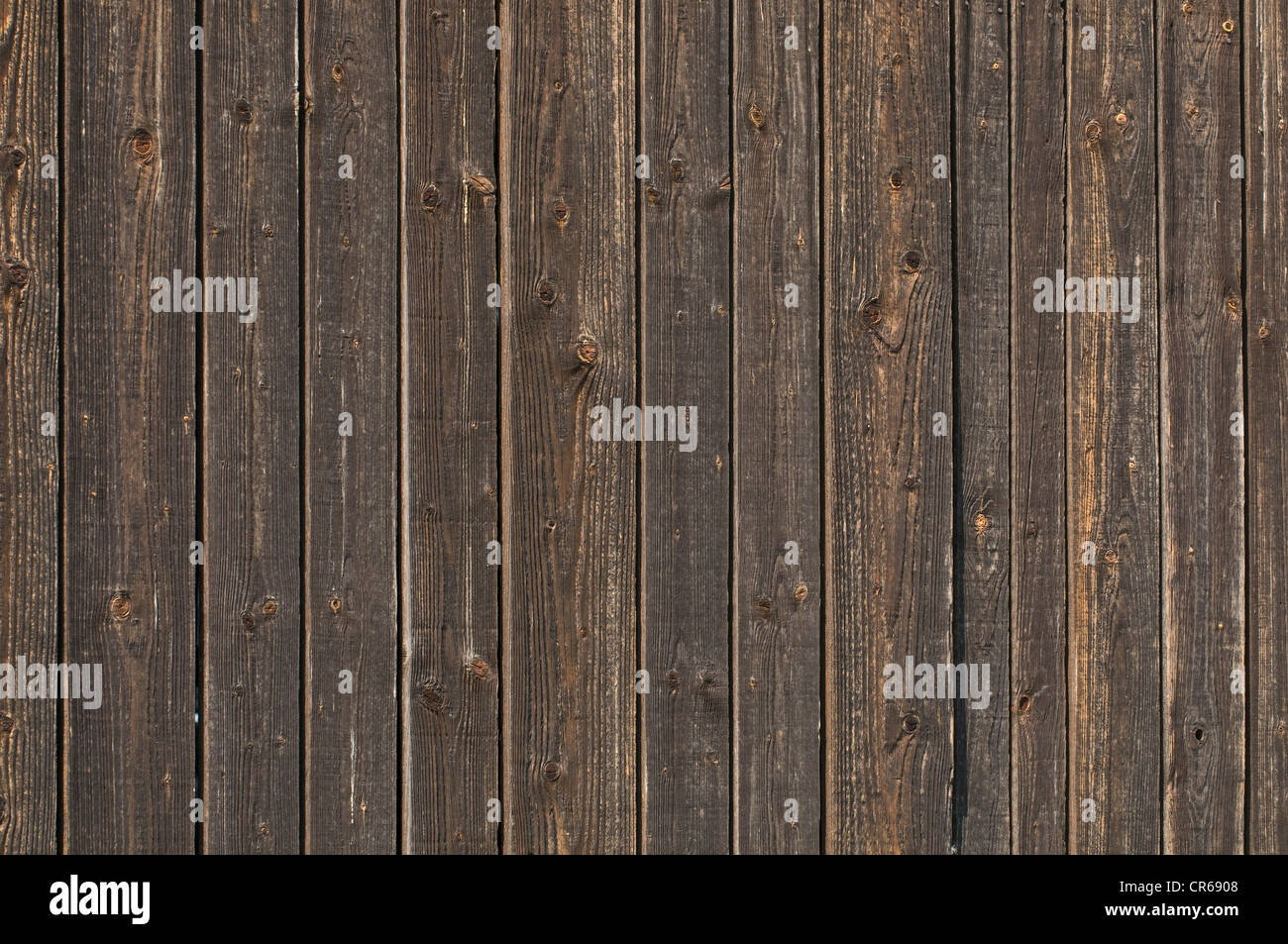 Wall with weathered wooden planks, background Stock Photo