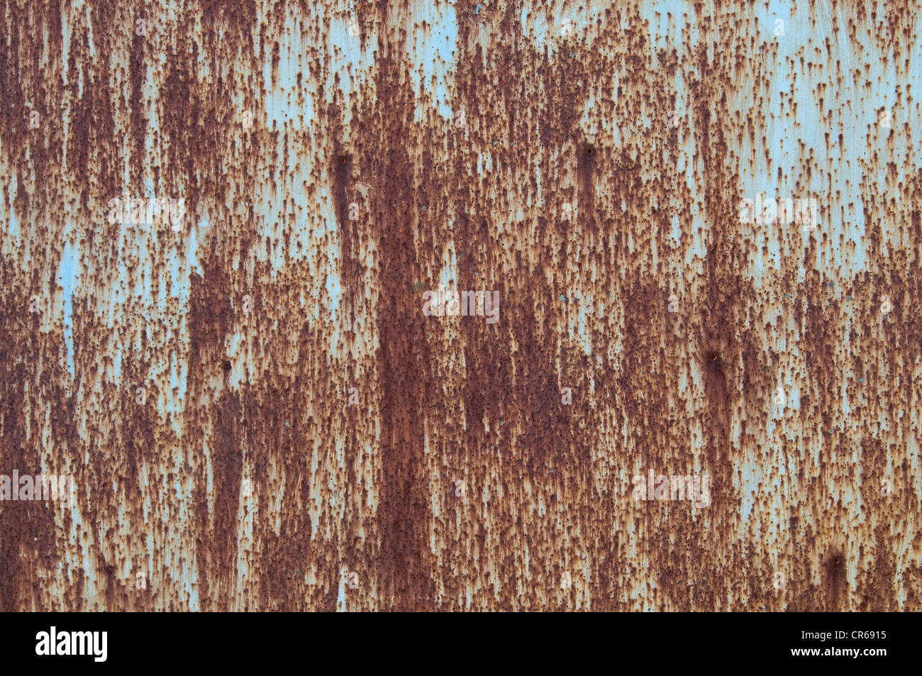 Corroded metal surface, background - Stock Image
