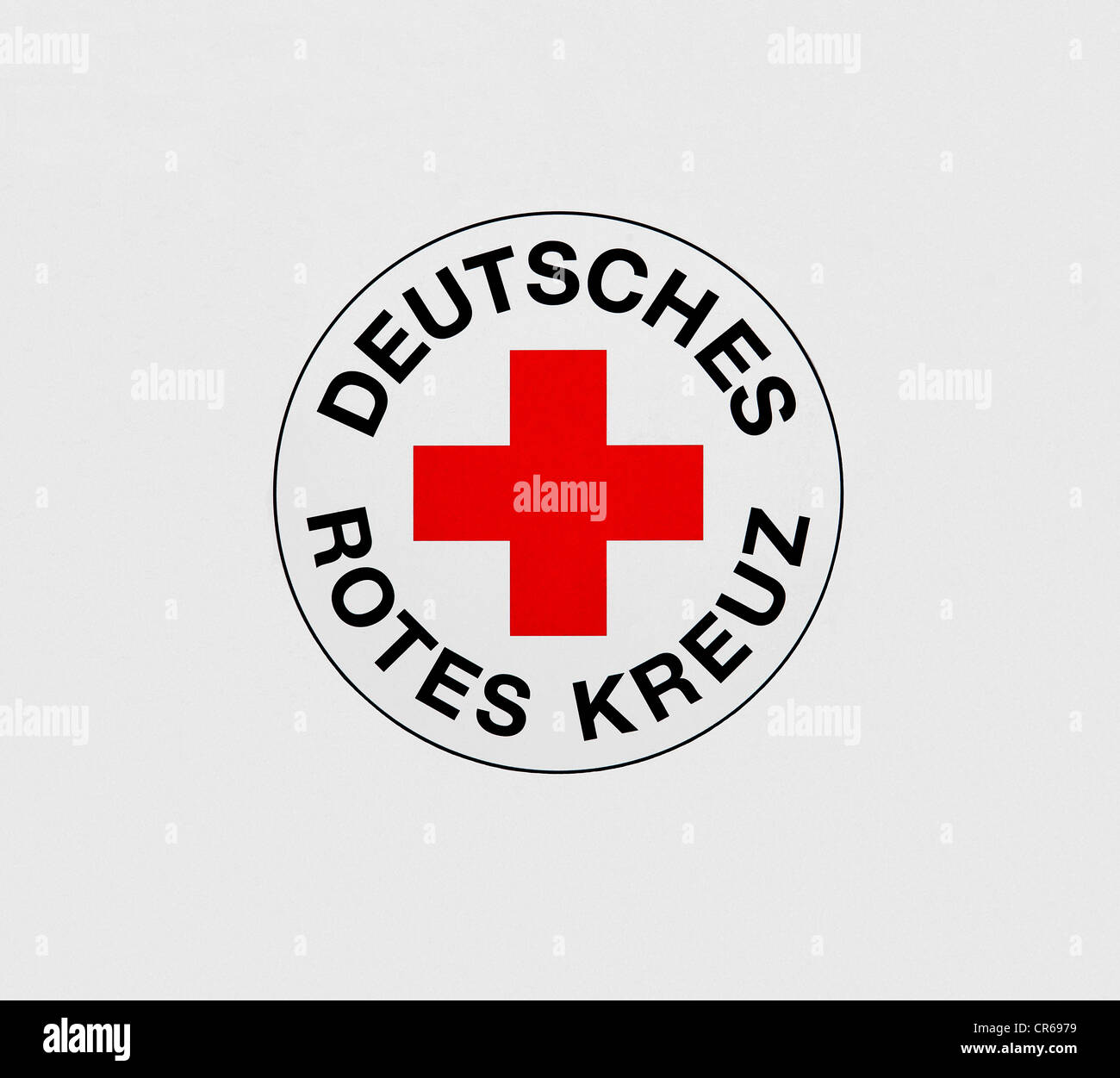 Logo of the Deutsches Rotes Kreuz or German Red Cross - Stock Image