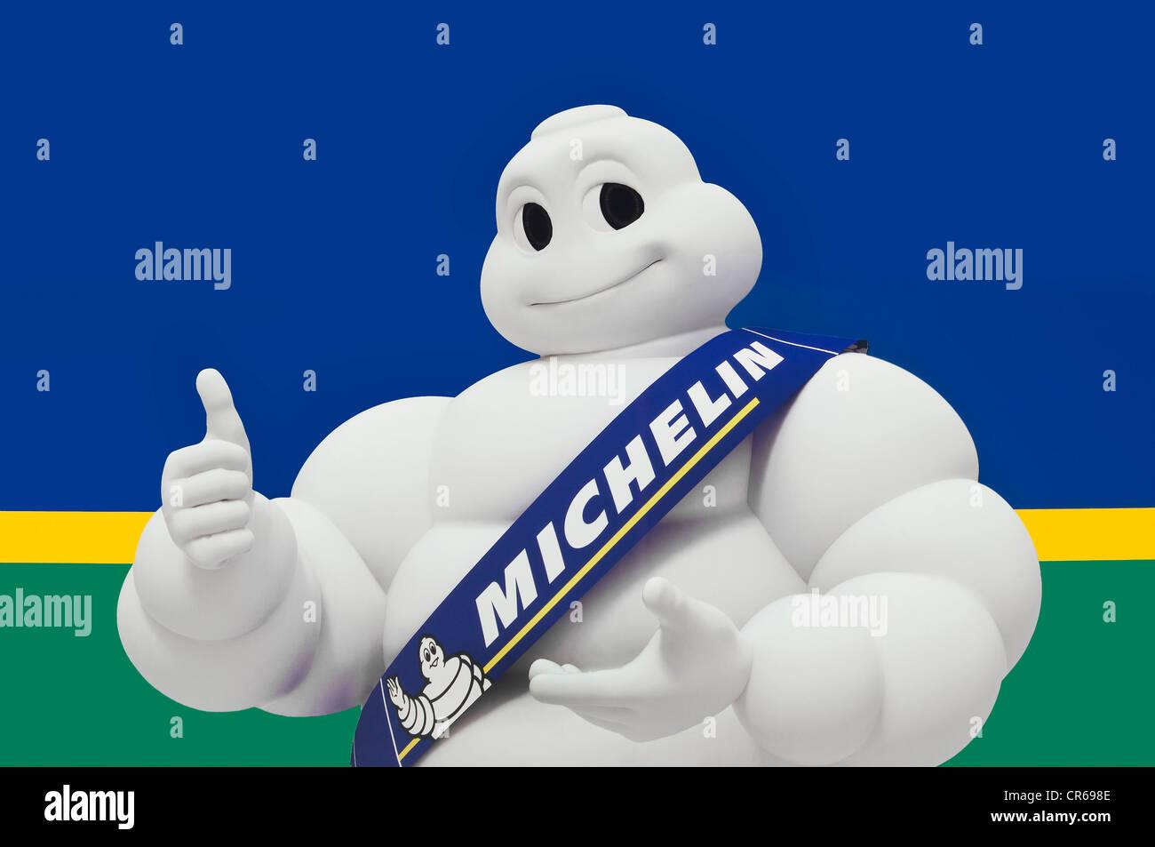 Michelin Man or Bibendum, advertising symbol of the Michelin tyre company - Stock Image