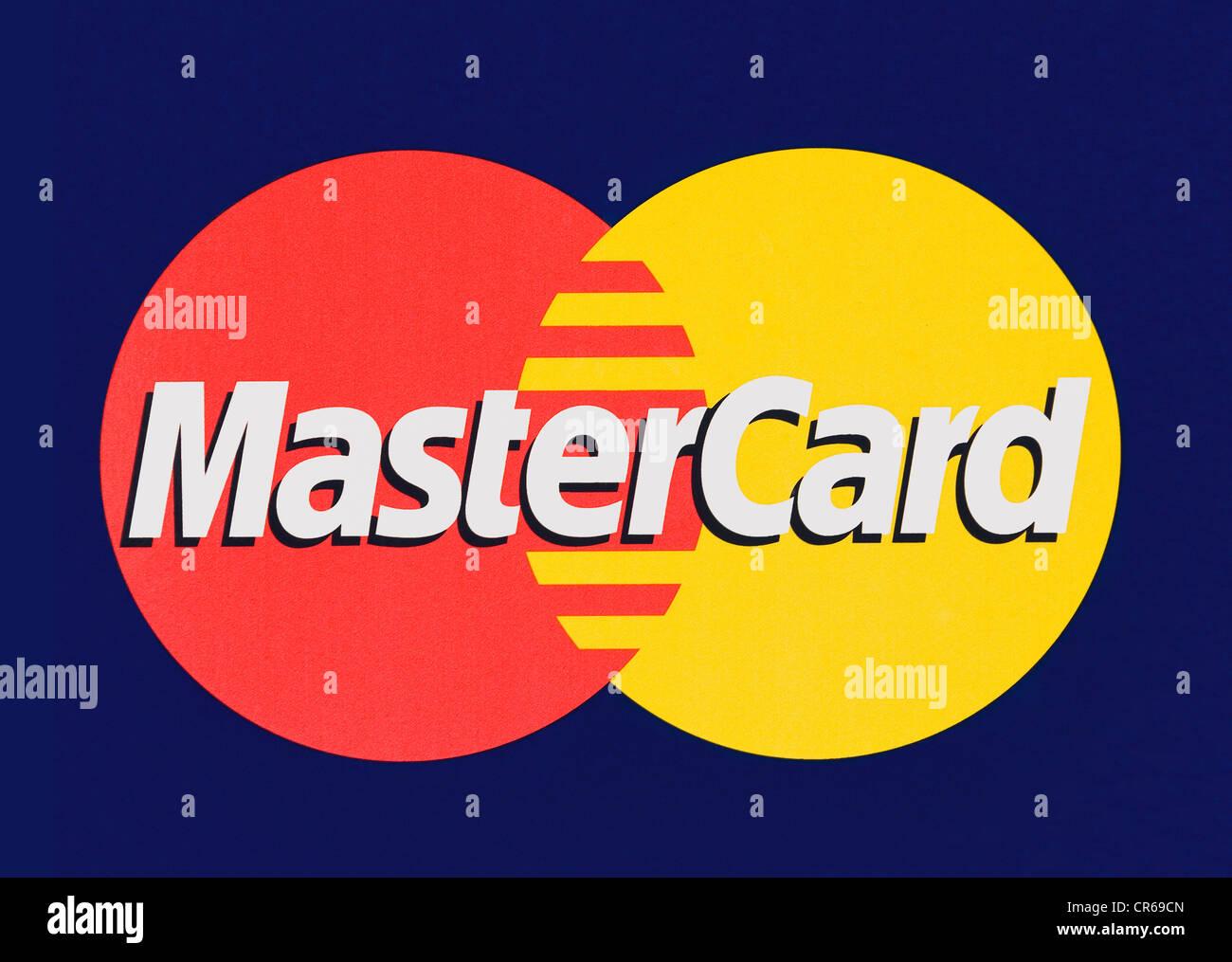 MasterCard logo, MasterCard International, credit card organization - Stock Image