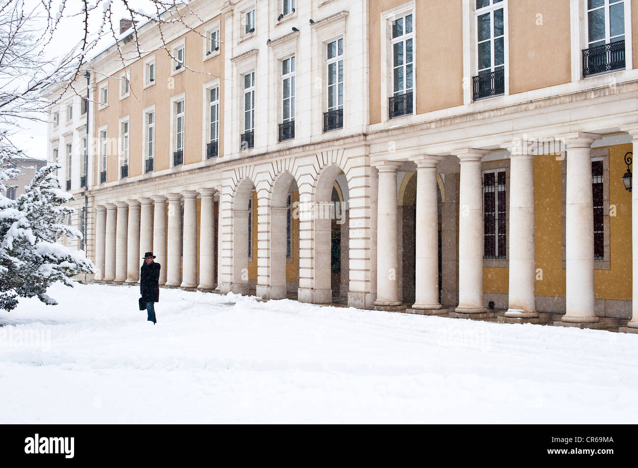 France, Isere, Grenoble in winter, Natural History Museum - Stock Image