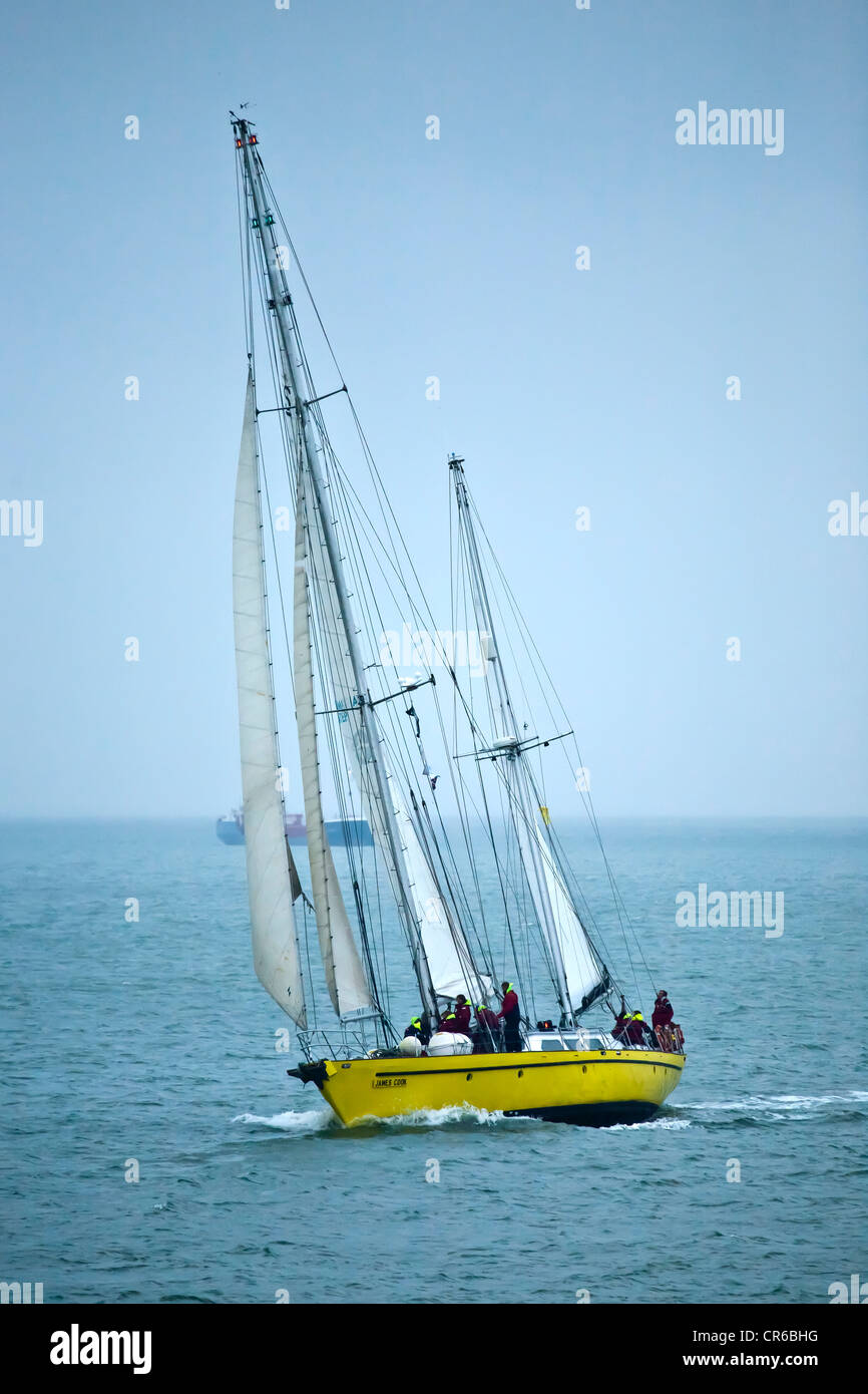 James Cook at the Start of London - Portland Small Ships Race 2012 - Stock Image