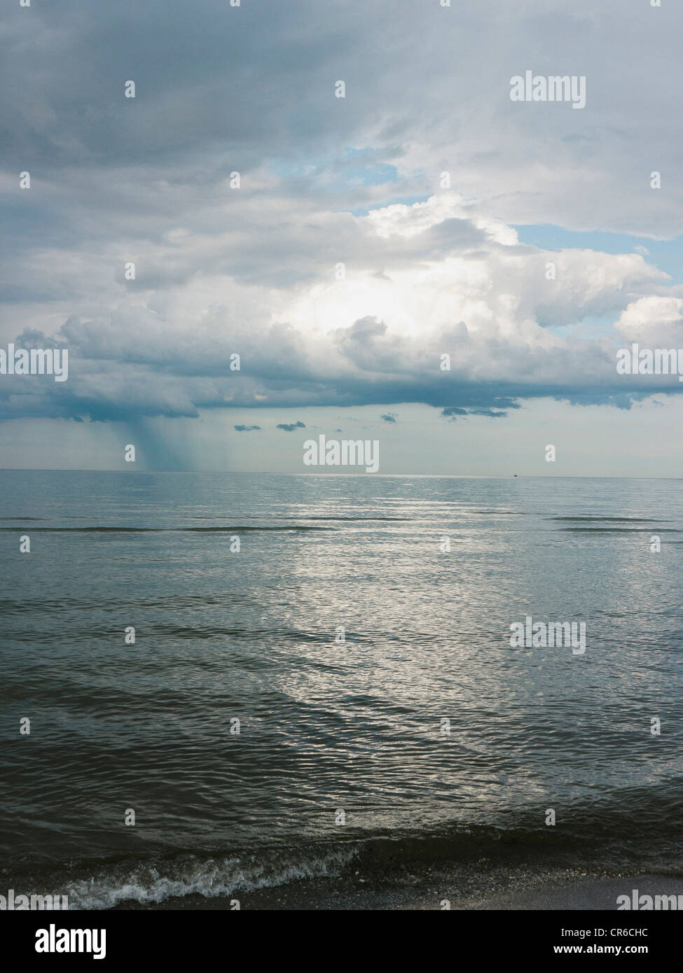 Germany, View of cloudy sky over Baltic Sea at Rugen Island Stock Photo