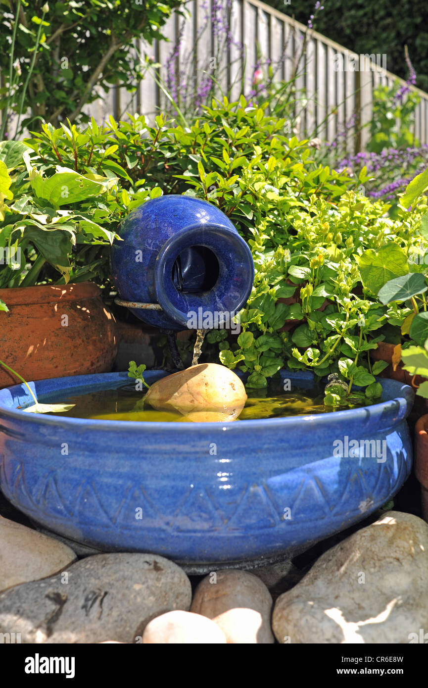 Small Solar Powered Water Feature Helping Save Money And